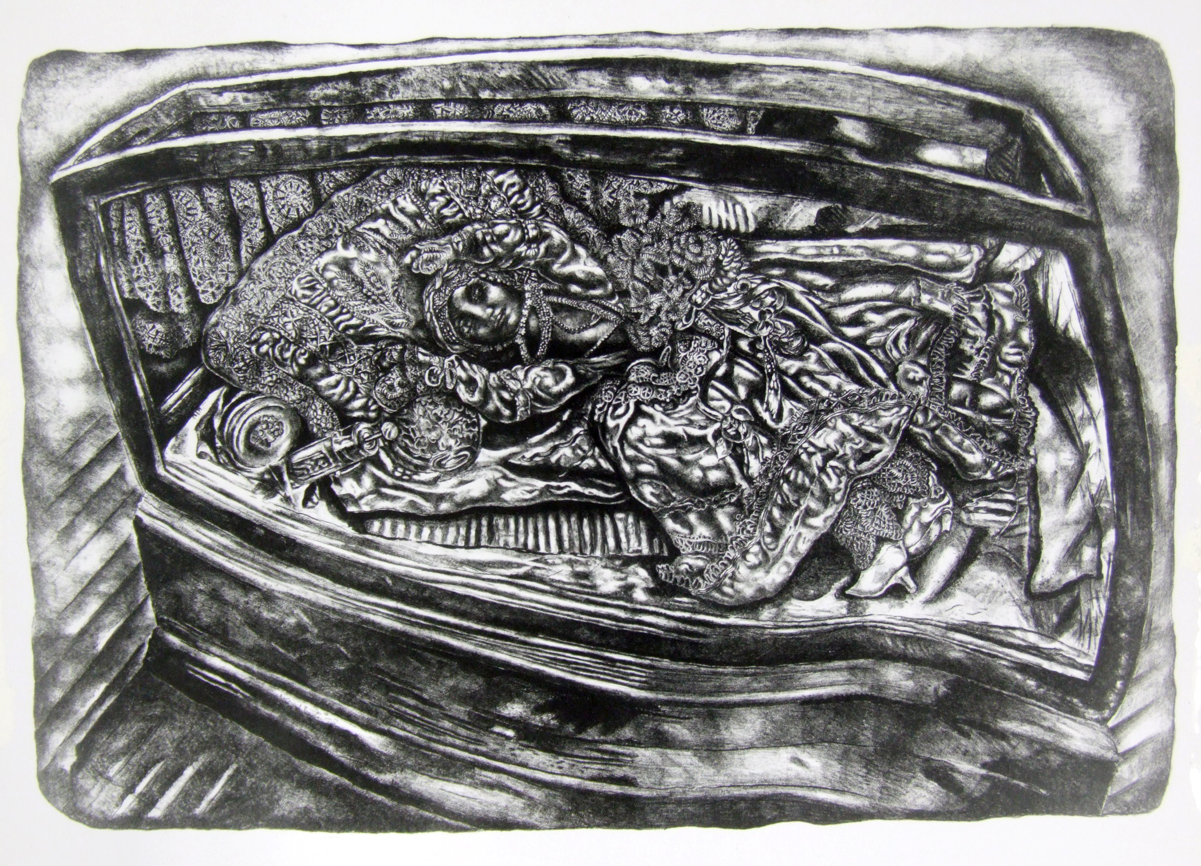 Ivan Albright, <i>Show Case Doll</i>​, 1954. Eli and Edythe Broad Art Museum, Michigan State University, Purchase.