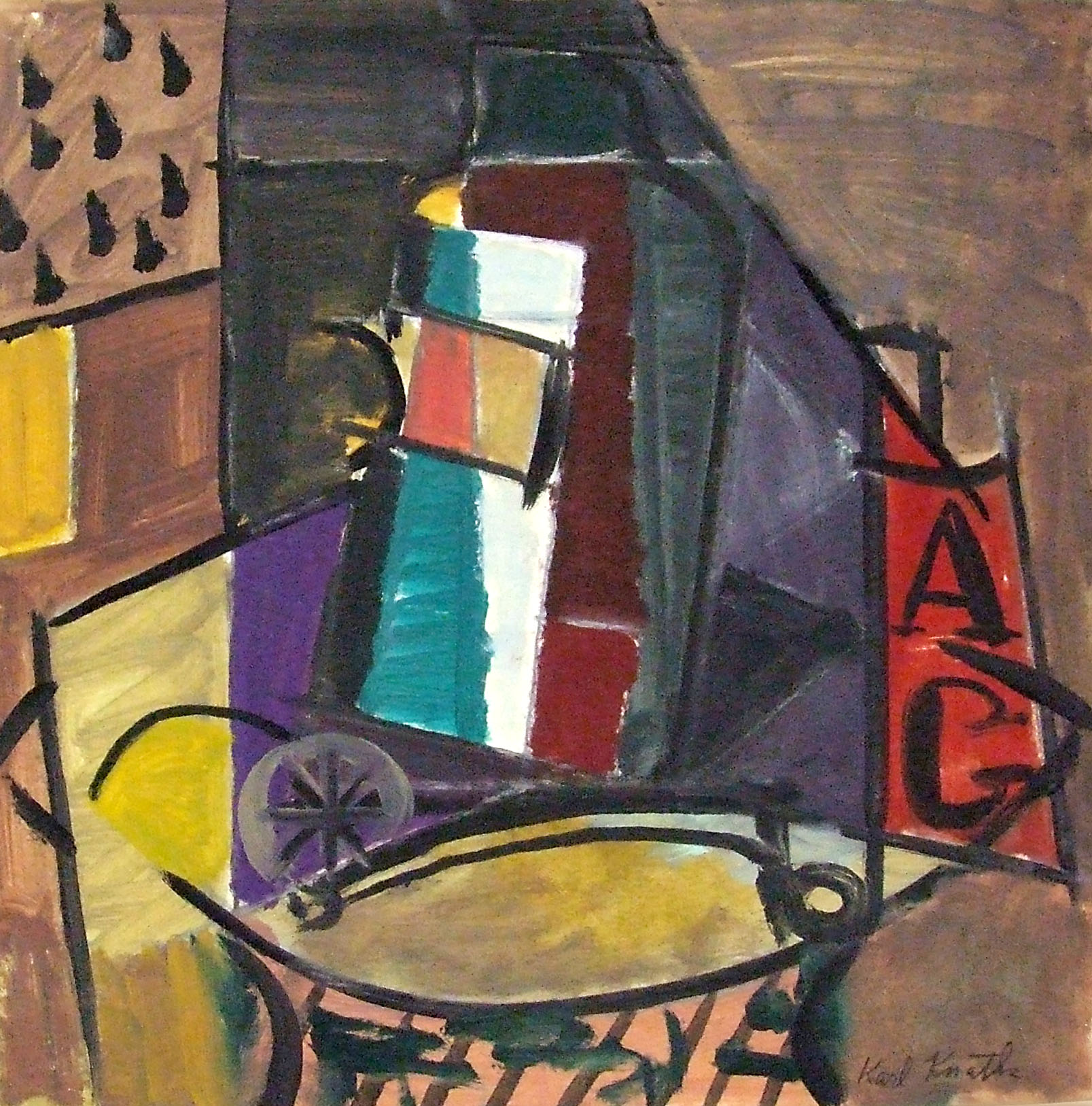 Karl Knaths, <i>Still Life</i>, ca. 1950. Eli and Edythe Broad Art Museum, Michigan State University, Gift of the artist.