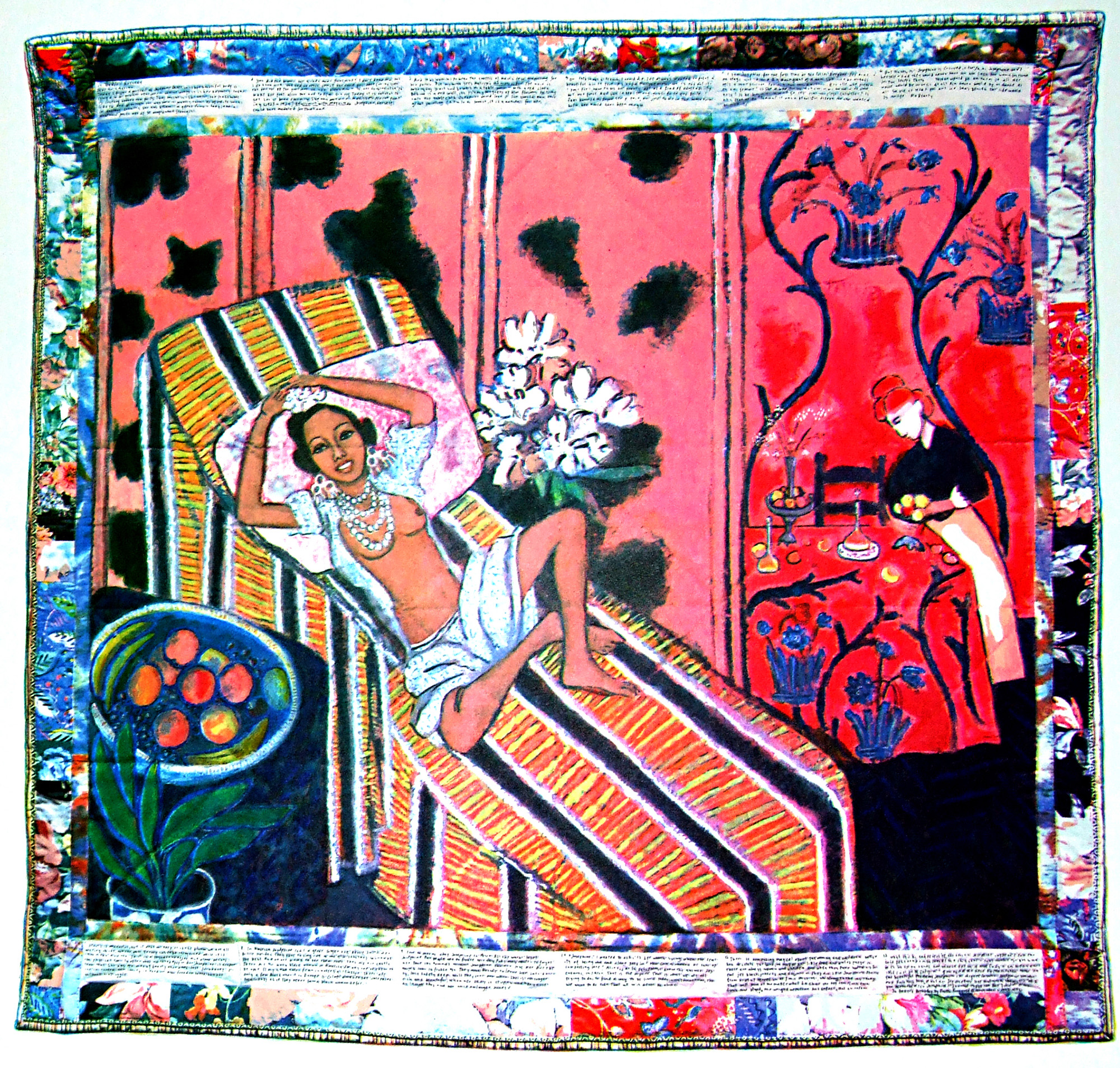 Faith Ringgold, <i>Jo Baker's Birthday</i>, from the portfolio <i>10 x 10: Ten Women/Ten Prints</i>, 1995. Eli and Edythe Broad Art Museum, Michigan State University, MSU purchase, funded by the Office of the Vice President for Research and Graduate Studies.