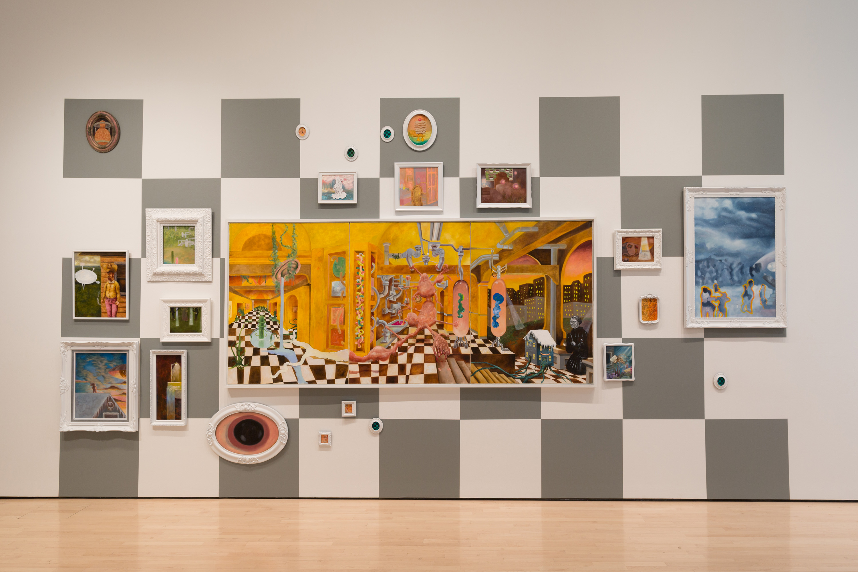 2016 Master of Fine Arts Exhibition, installation view at the Eli and Edythe Broad Art Museum at Michigan State University, 2016. Photo: MSU Broad