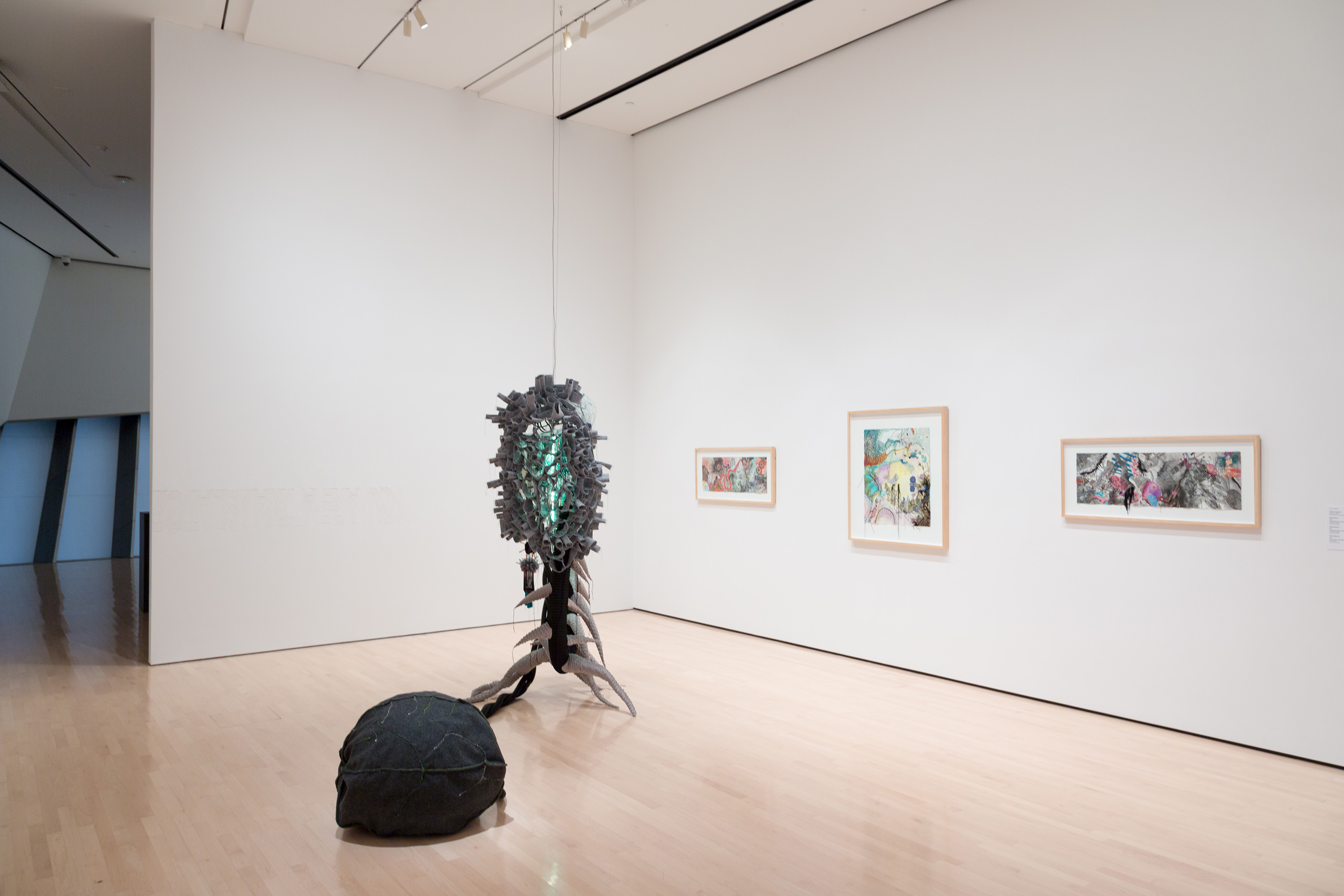 2017 Master of Fine Arts Exhibition, installation view at the Eli and Edythe Broad Art Museum at Michigan State University, 2017. Photo: MSU Broad