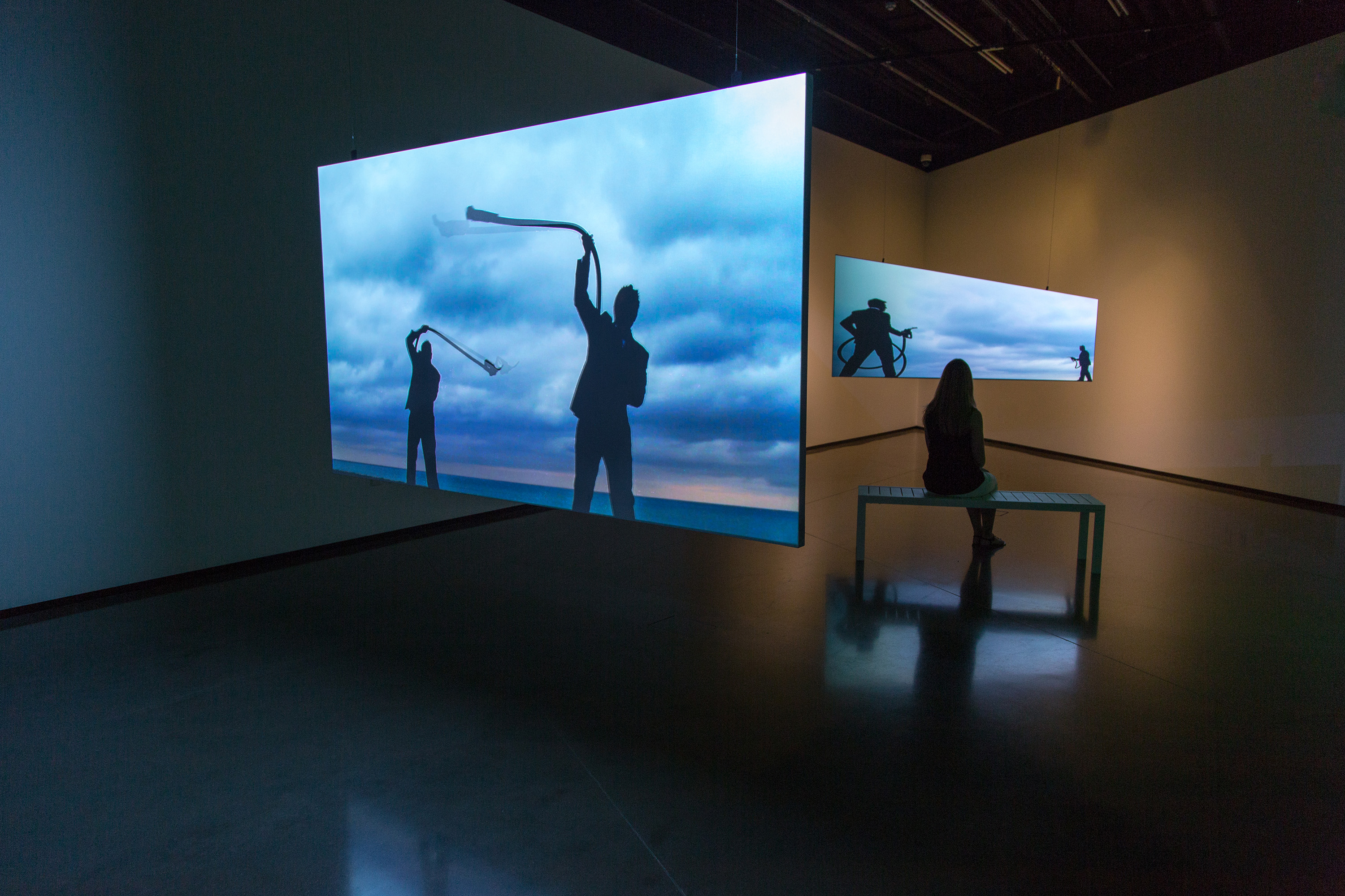 <i>Christopher Cozier: Entanglements</i>, installation view at the Eli and Edythe Broad Art Museum at Michigan State University, 2015. Photo: MSU Broad