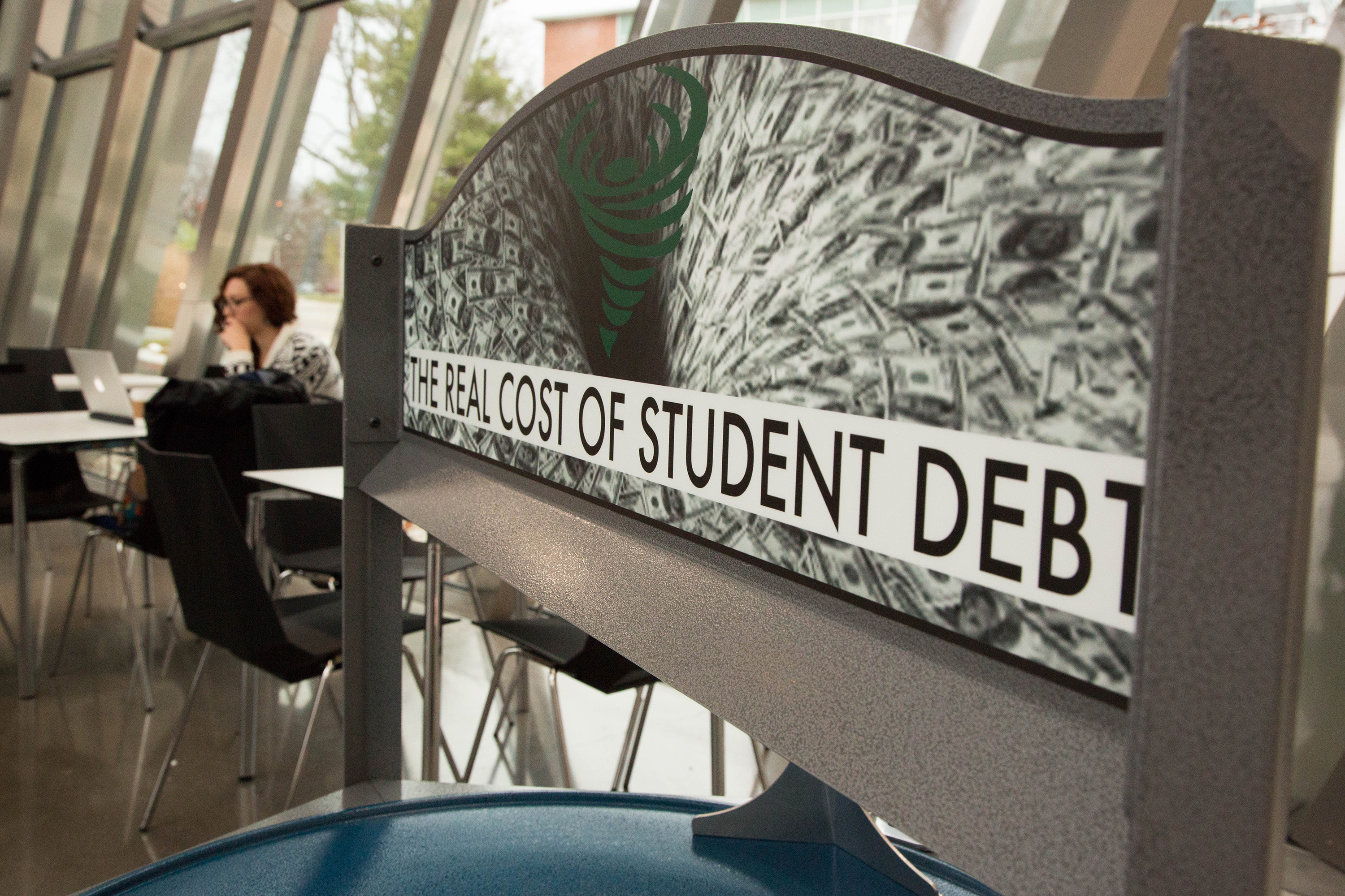 Martha Rosler, <i>Coin Vortex for Student Debt</i>, 2014, installation view at the Eli and Edythe Broad Art Museum at Michigan State University, 2014. Courtesy the artist. Photo: MSU Broad
