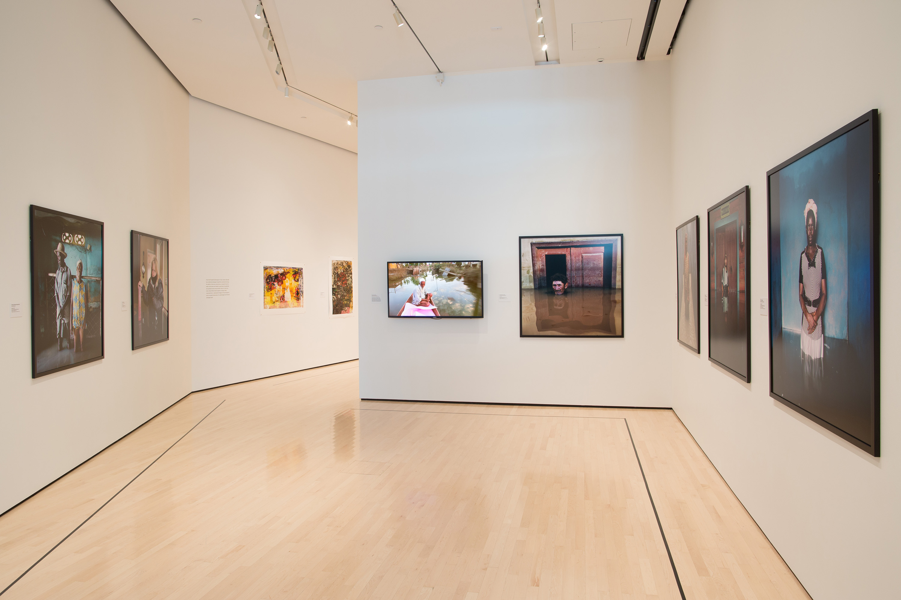 <i>Gideon Mendel: Drowning World</i>, installation view at the Eli and Edythe Broad Art Museum at Michigan State University, 2016. Photo: Eat Pomegranate Photography