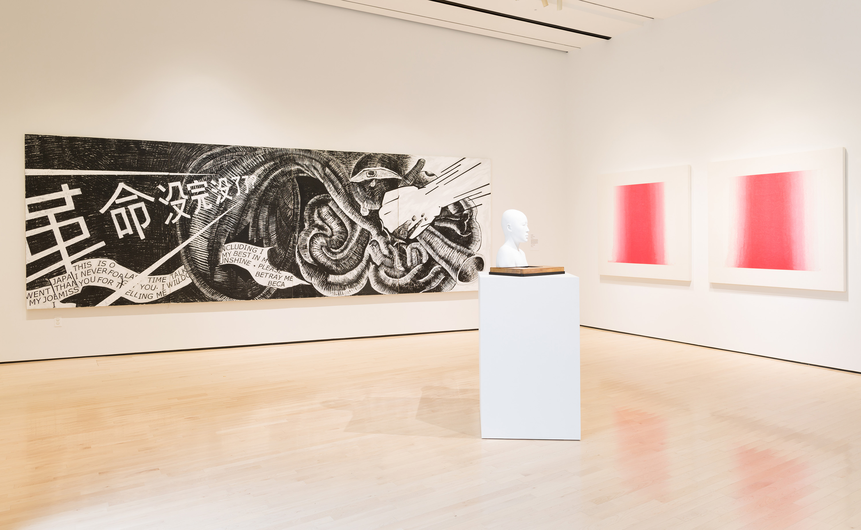 <i>Fire Within: A New Generation of Chinese Women Artists</i>, installation view at the Eli and Edythe Broad Art Museum at Michigan State University, 2016. Photo: Eat Pomegranate Photography
