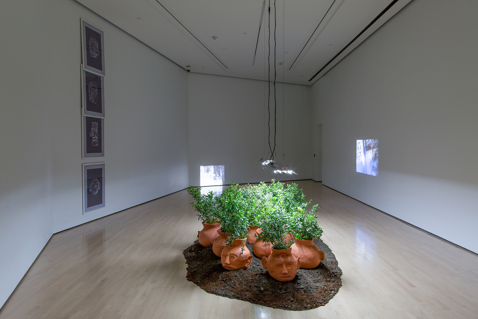 <i>Field Station: Duane Linklater</i>, installation view at the Eli and Edythe Broad Art Museum at Michigan State University, 2017. Photo: Eat Pomegranate Photography