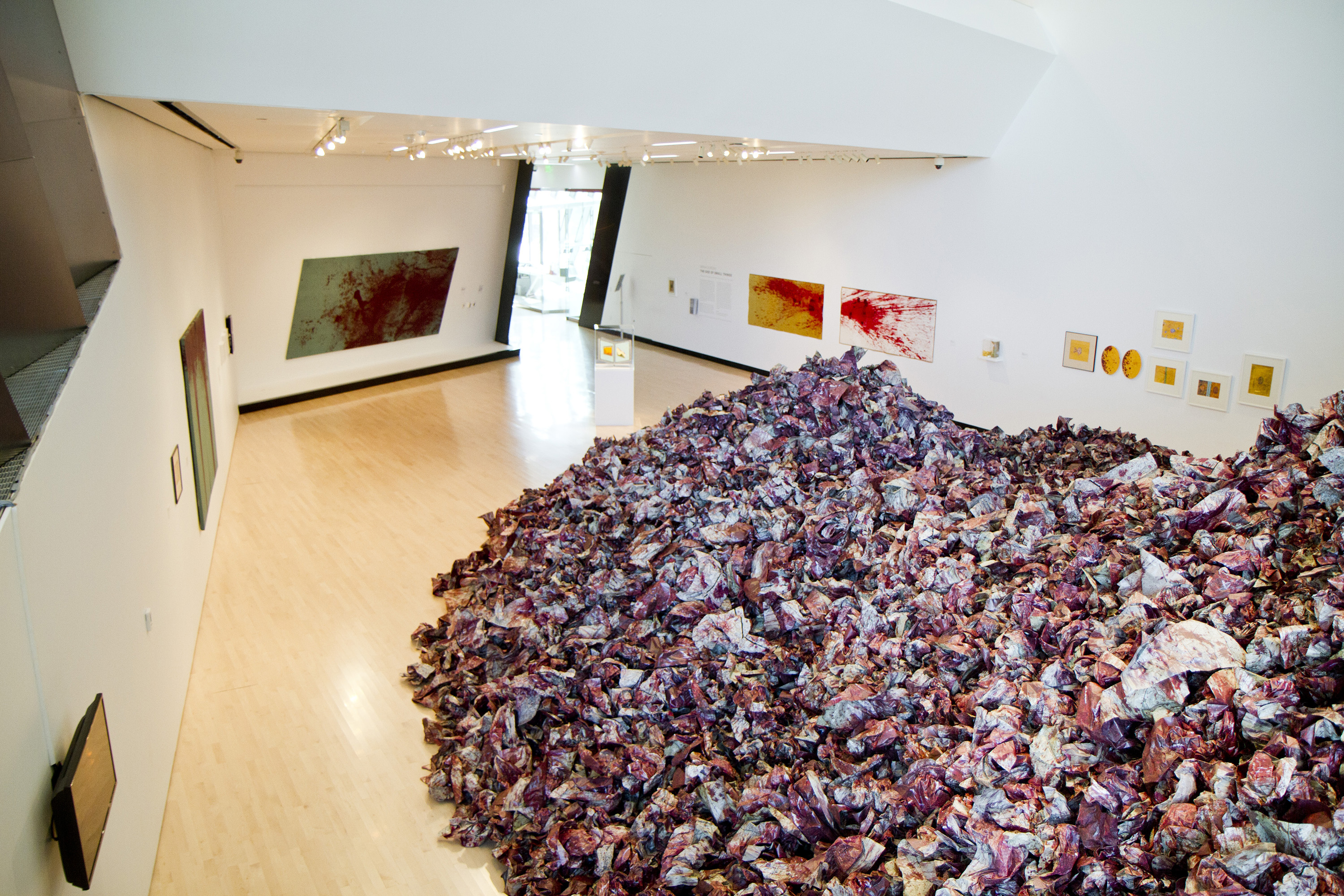 <i>Imran Qureshi: The God of Small Things</i>, installation view at the Eli and Edythe Broad Art Museum at Michigan State University, 2014. Photo: Eat Pomegranate Photography