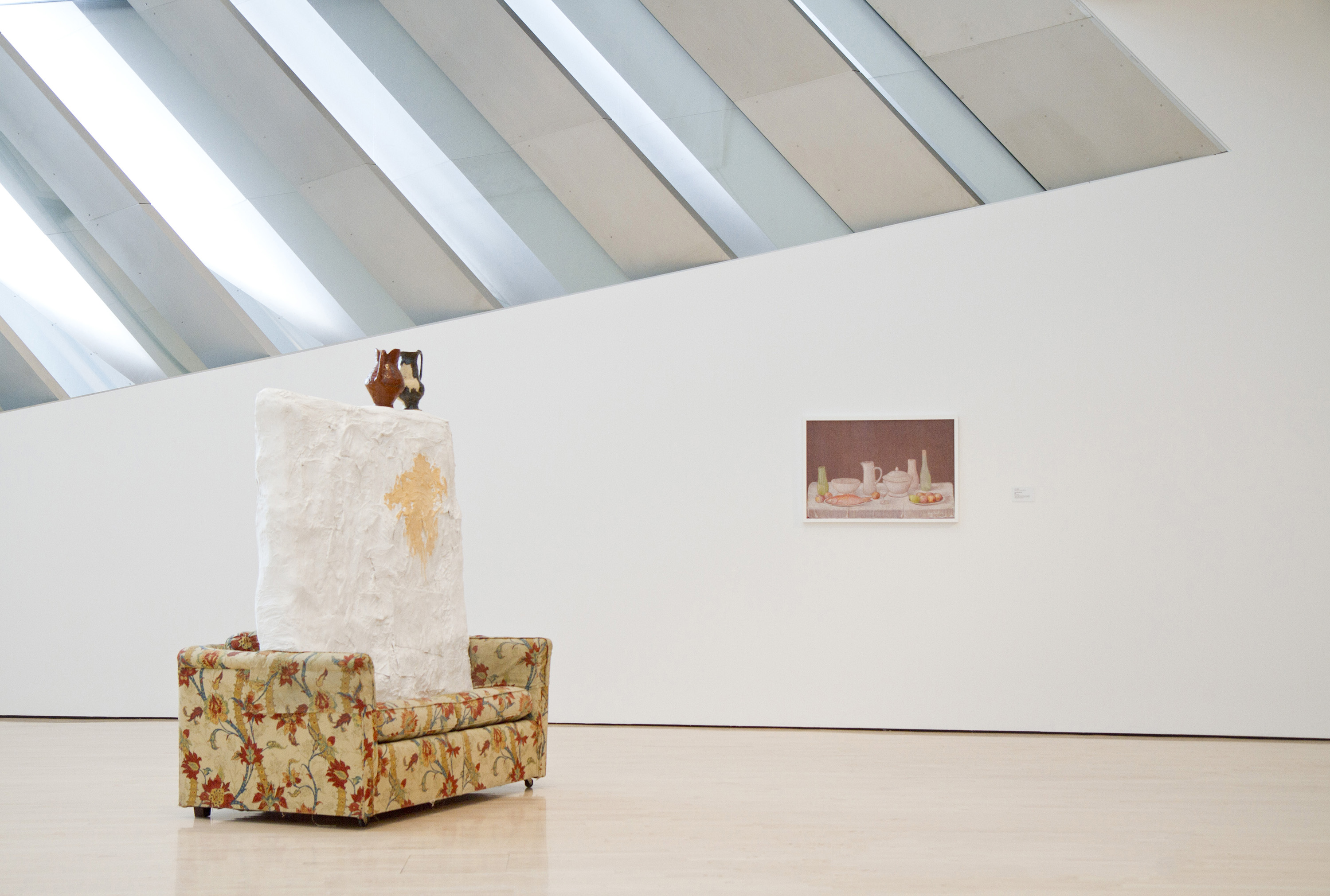 <i>The Genres: Still Life featuring Jessica Jackson Hutchins</i>, installation view at the Eli and Edythe Broad Art Museum at MSU, 2013. Photo: Eat Pomegranate Photography