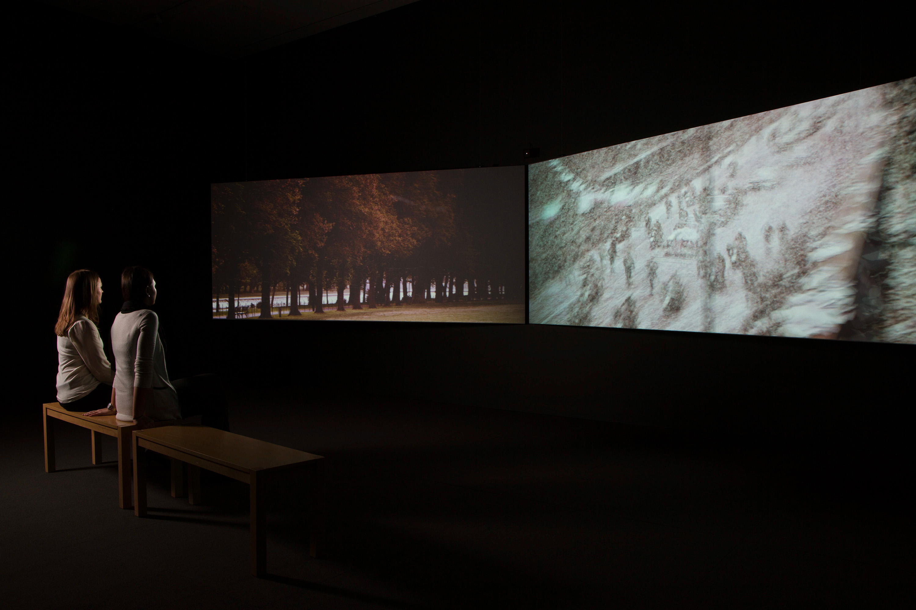<i>John Akomfrah: Imaginary Possessions</i>, installation view at the Eli and Edythe Broad Art Museum at Michigan State University, 2014. Photo: Eat Pomegranate Photography