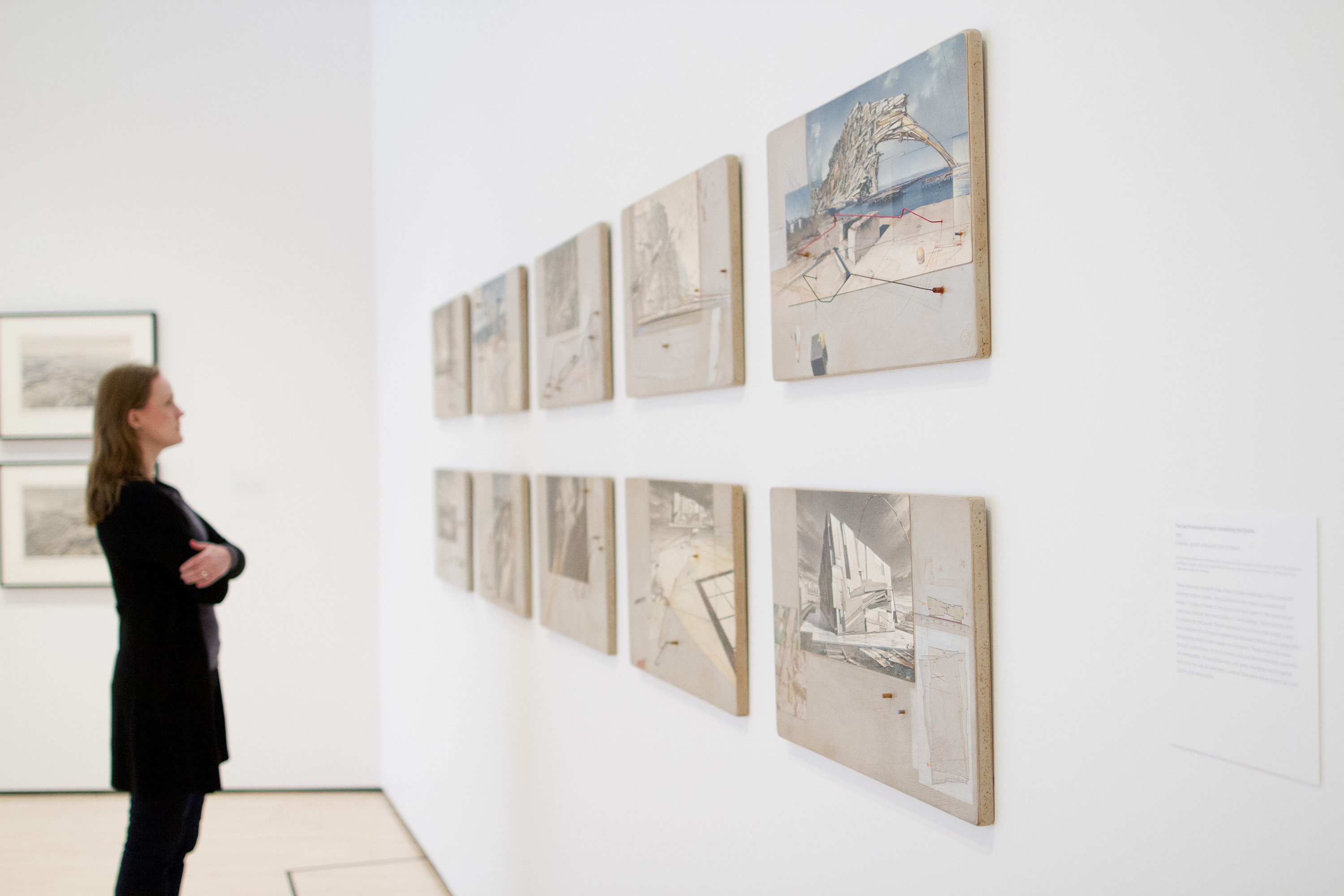 <i>Lebbeus Woods: Architect</i>, installation view at the Eli and Edythe Broad Art Museum at Michigan State University, 2013. Photo: Eat Pomegranate Photography