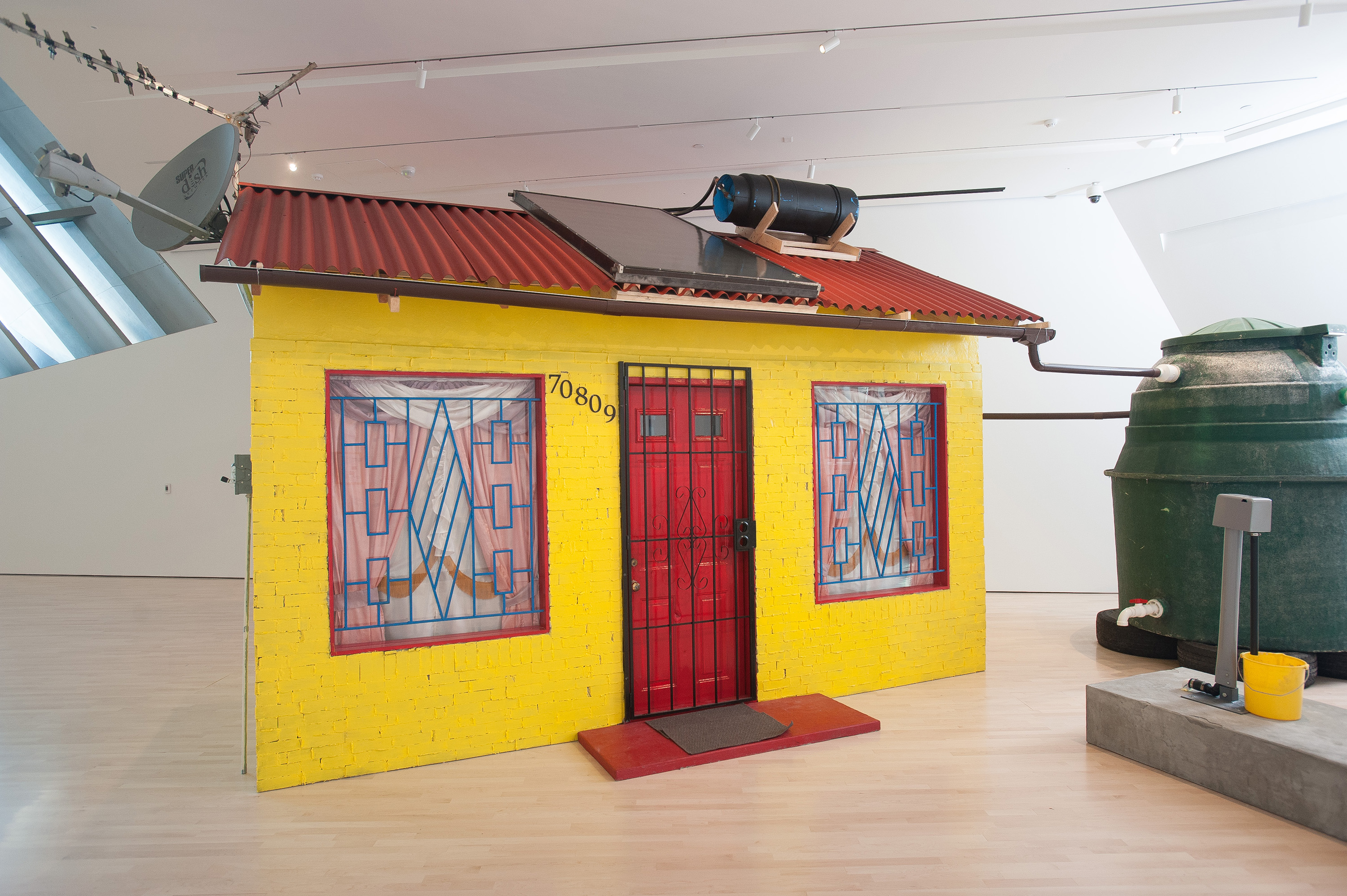 Marjetica Potrč, Soweto House with Prepaid Water Meter, 2012, installation view at the Eli and Edythe Broad Art Museum at Michigan State University, 2012. Courtesy the artist and Galerie Nordenhake, Berlin/Stockholm. Photo: Trumpie Photography