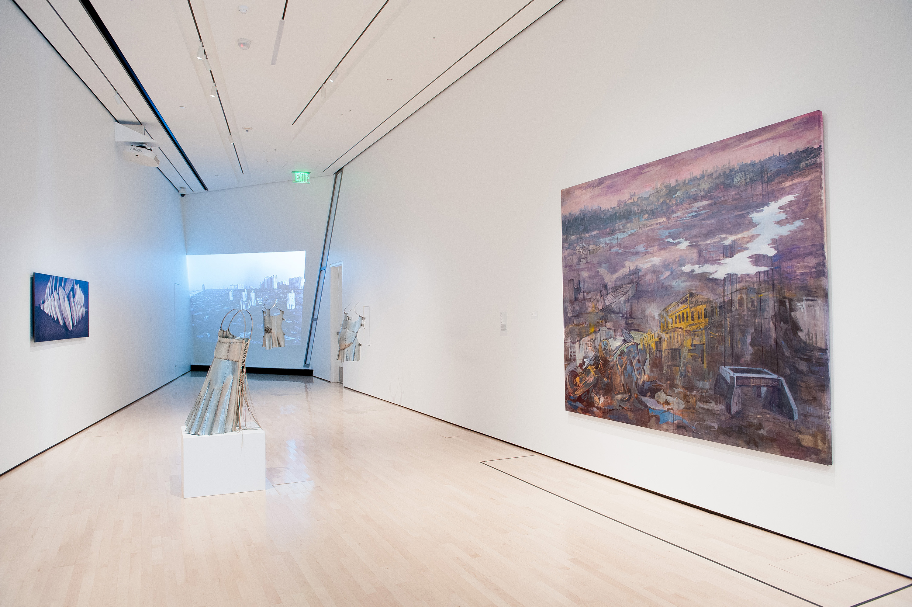 Naiza Khan: Karachi Elegies, installation view at the Eli and Edythe Broad Art Museum at Michigan State University, 2013. Photo: Trumpie Photography