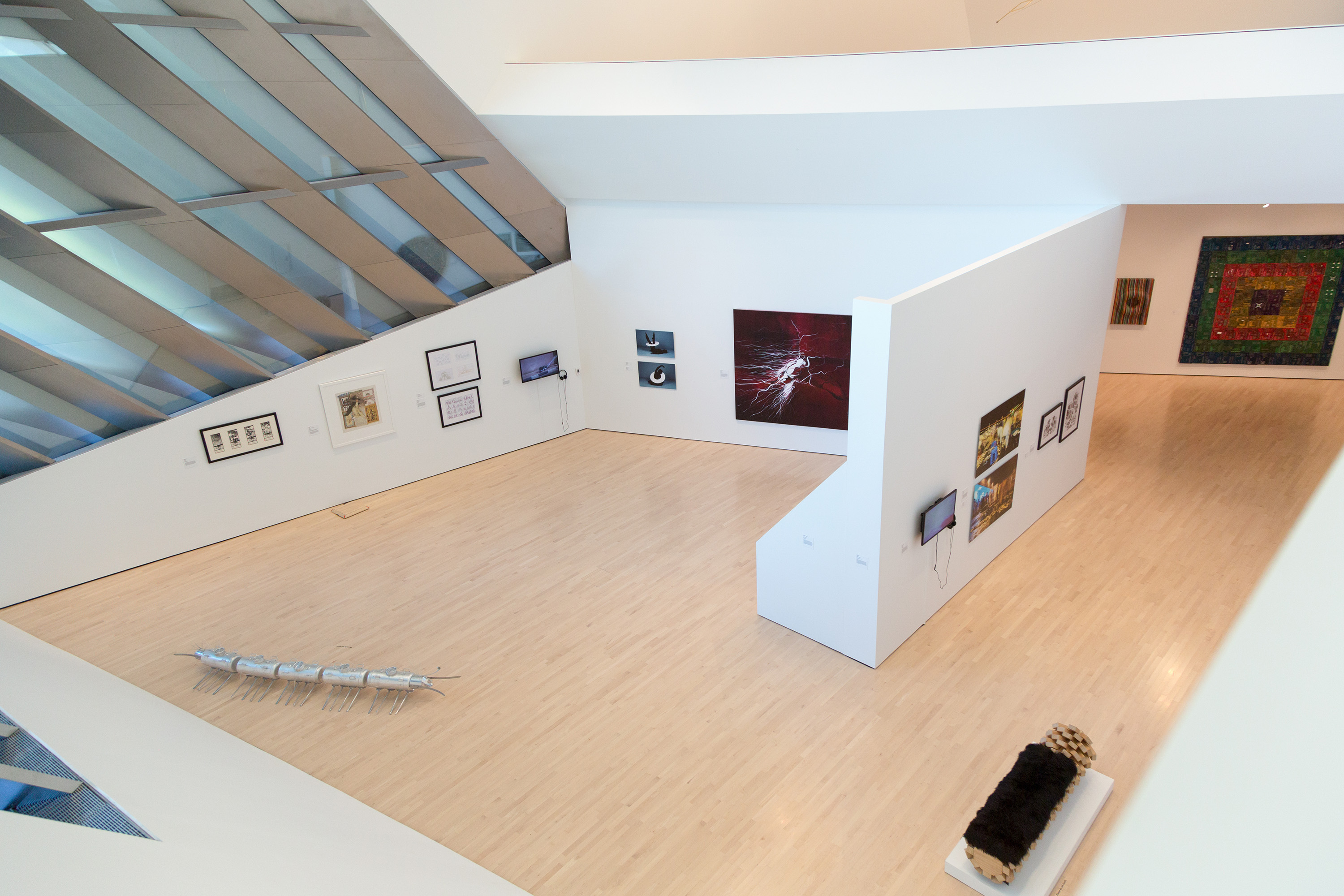 <i>Past Forward: Contemporary Art from the Emirates</i>, installation view at the Eli and Edythe Broad Art Museum at Michigan State University, 2015. Photo: MSU Broad