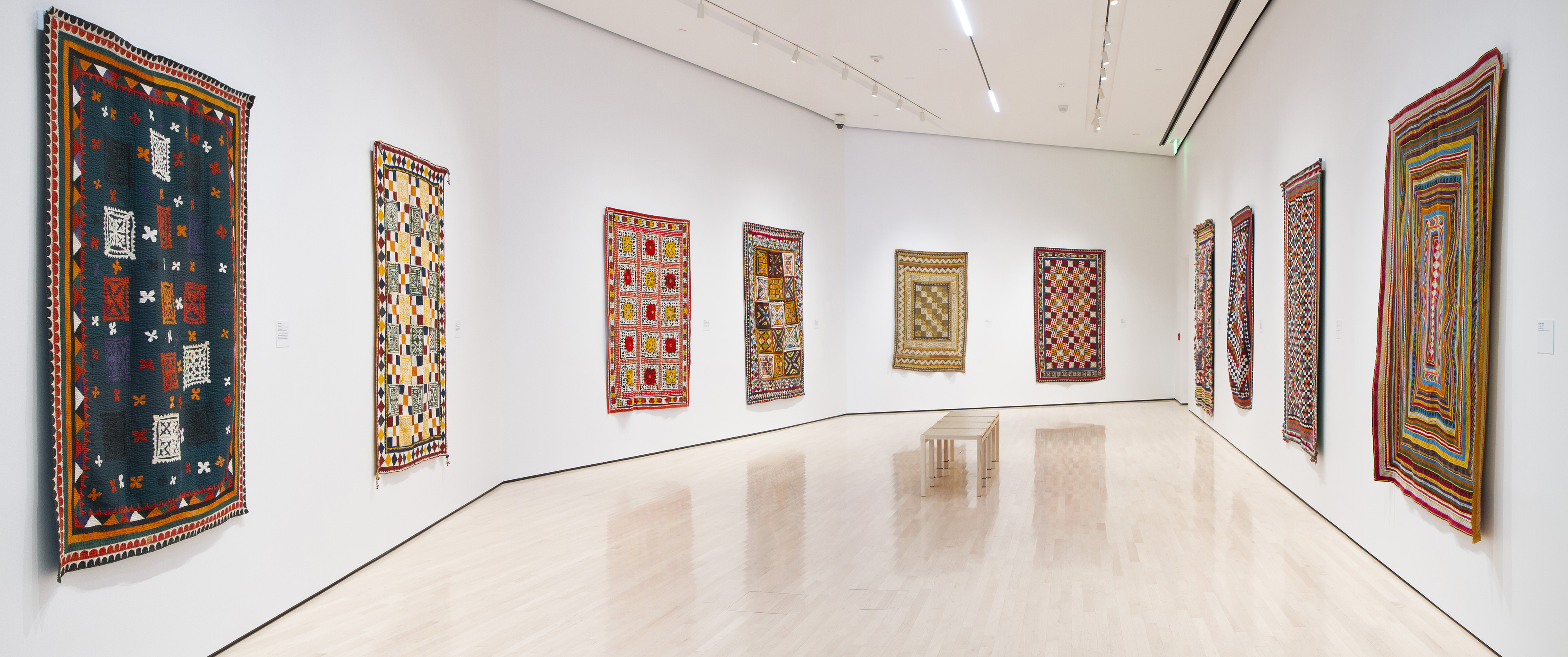 <i>Ralli Quilts</i>, installation view at the Eli and Edythe Broad Art Museum at Michigan State University, 2014. Photo: Eat Pomegranate Photography