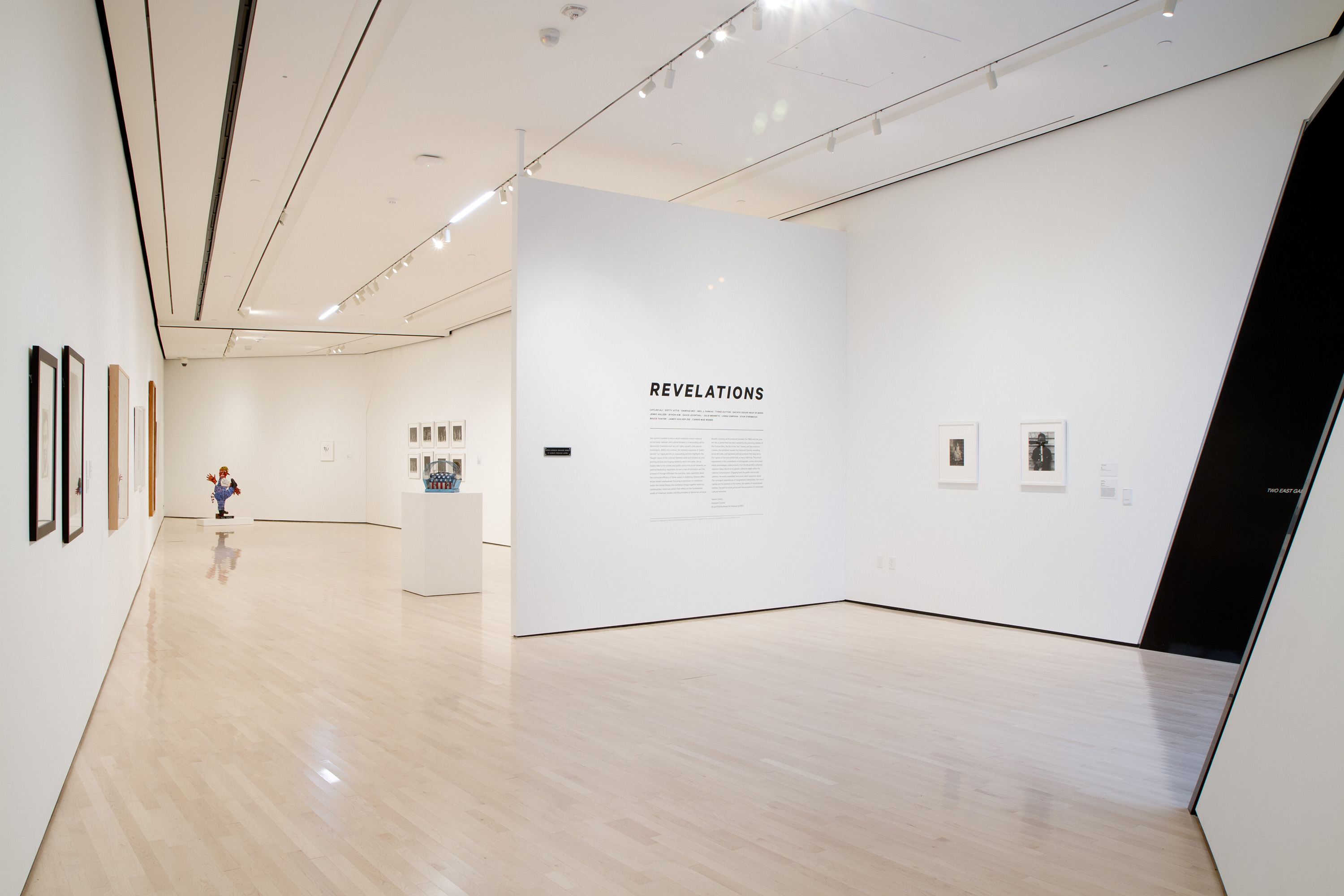 <i>Revelations: Examining Democracy</i>, installation view at the Eli and Edythe Broad Art Museum at MSU, 2013. Photo: Eat Pomegranate Photography