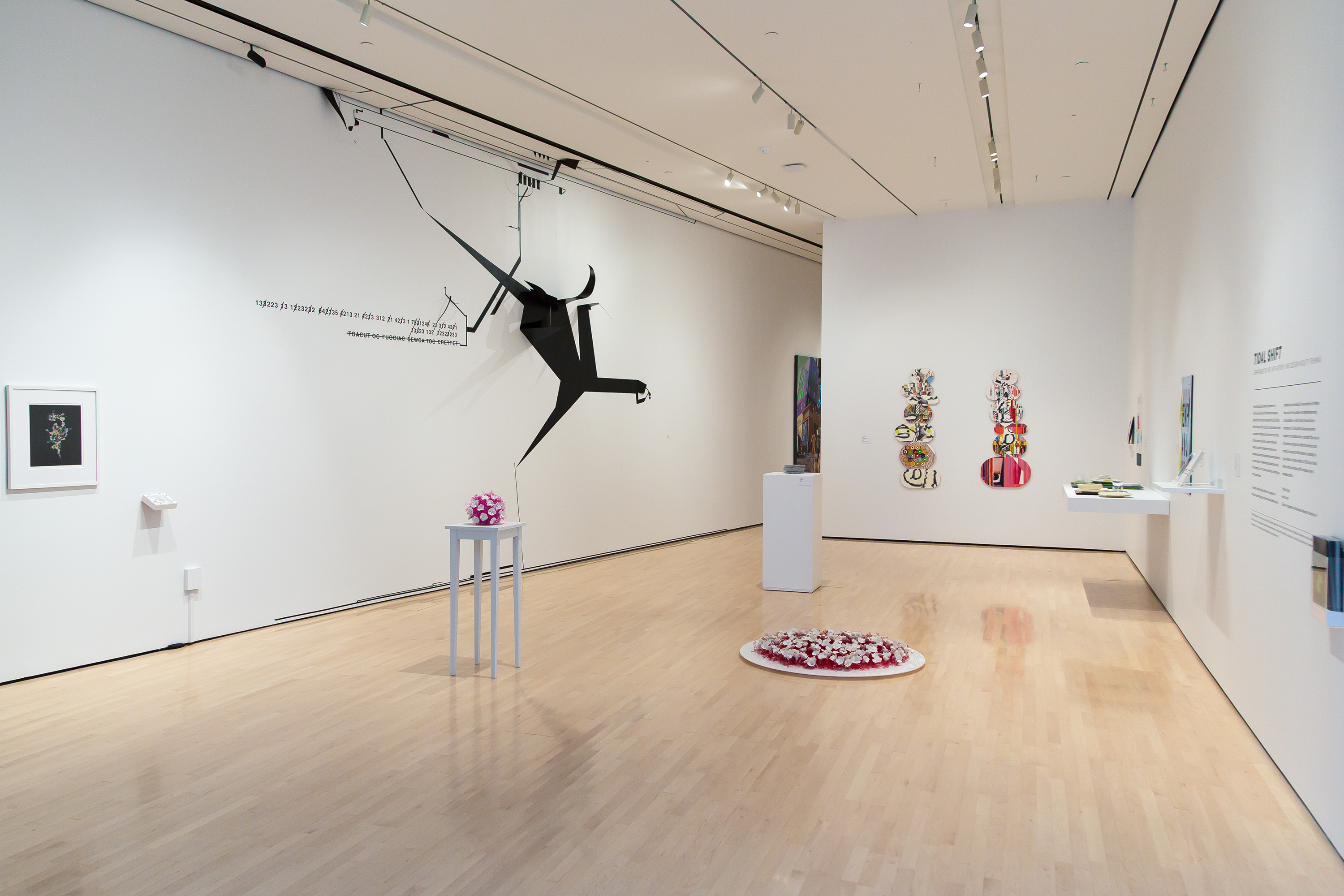 <i>Tidal Shift: Department of Art, Art History, and Design Faculty Triennial</i>, installation view at the Eli and Edythe Broad Art Museum at Michigan State University, 2015. Photo: MSU Broad