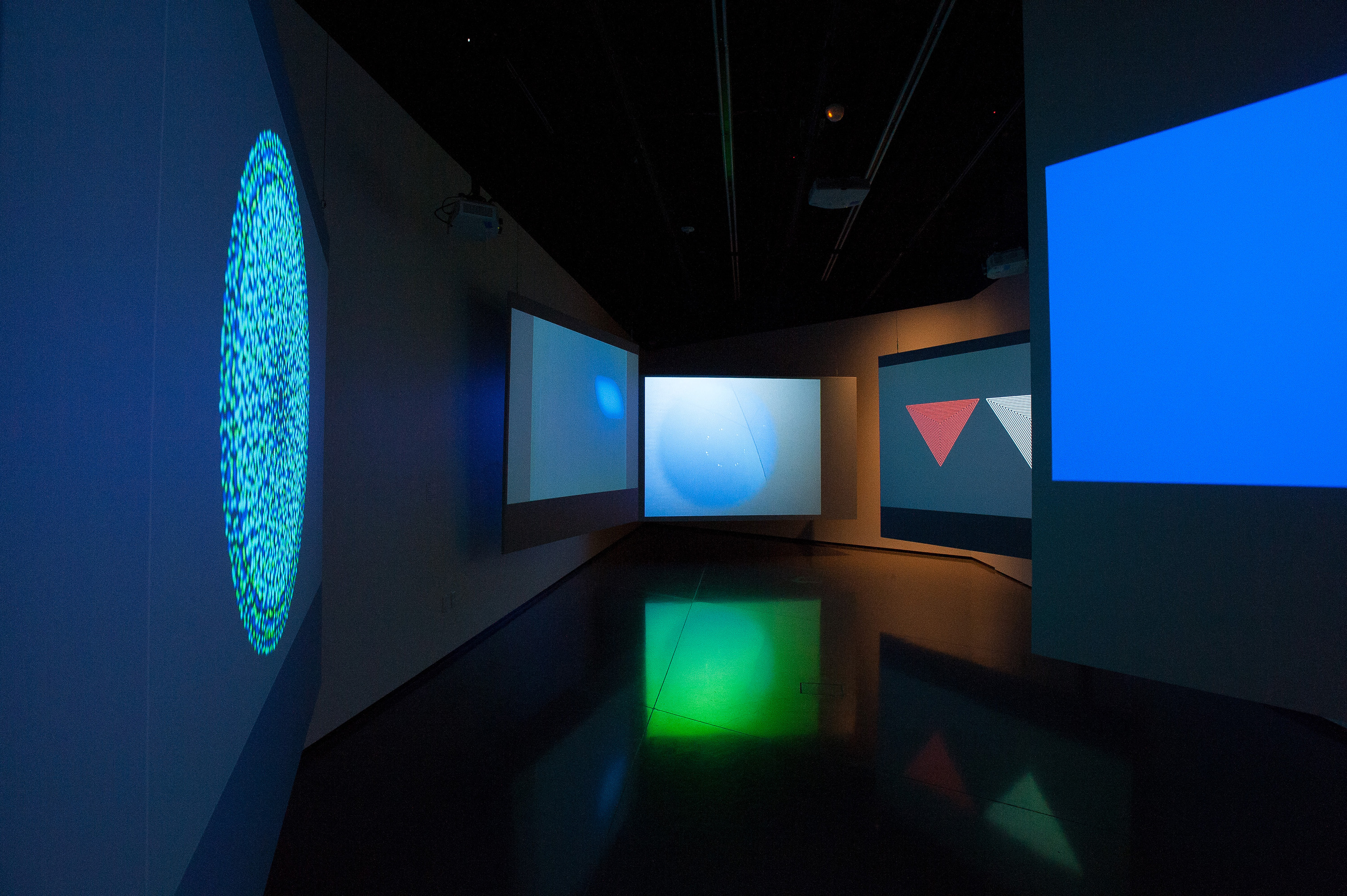 <i>Variations on a Line (Moving)</i>, installation view at the Eli and Edythe Broad Art Museum at Michigan State University, 2013. Photo: Trumpie Photography