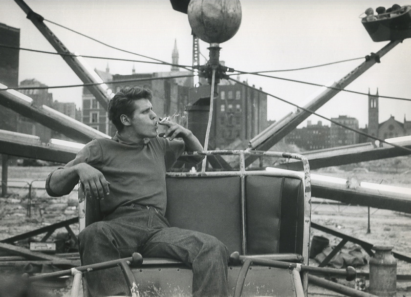 Frank Paulin, <i>Carnival Worker with Attitude</i>, 1957. Eli and Edythe Broad Art Museum, Michigan State University, Gift of Bruce and Silke Silverstein.