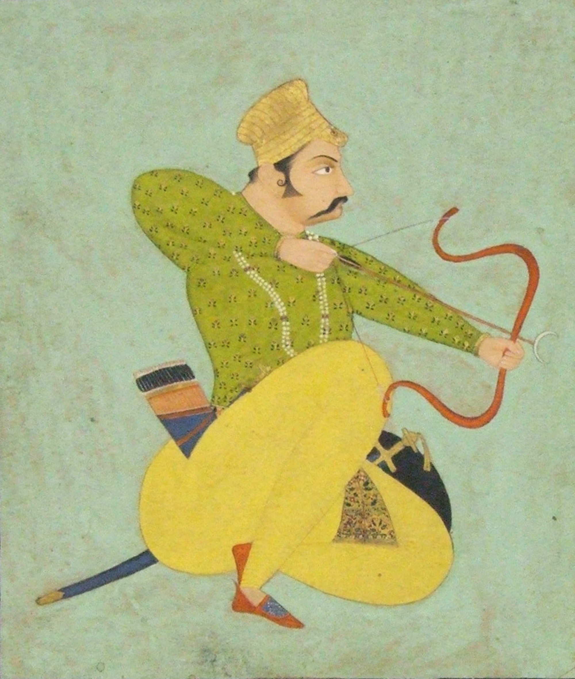 Artist unknown (Bundi School), Indian, late 18th century, <i>The Royal Archer</i>. Eli and Edythe Broad Art Museum, Michigan State University, Purchase.