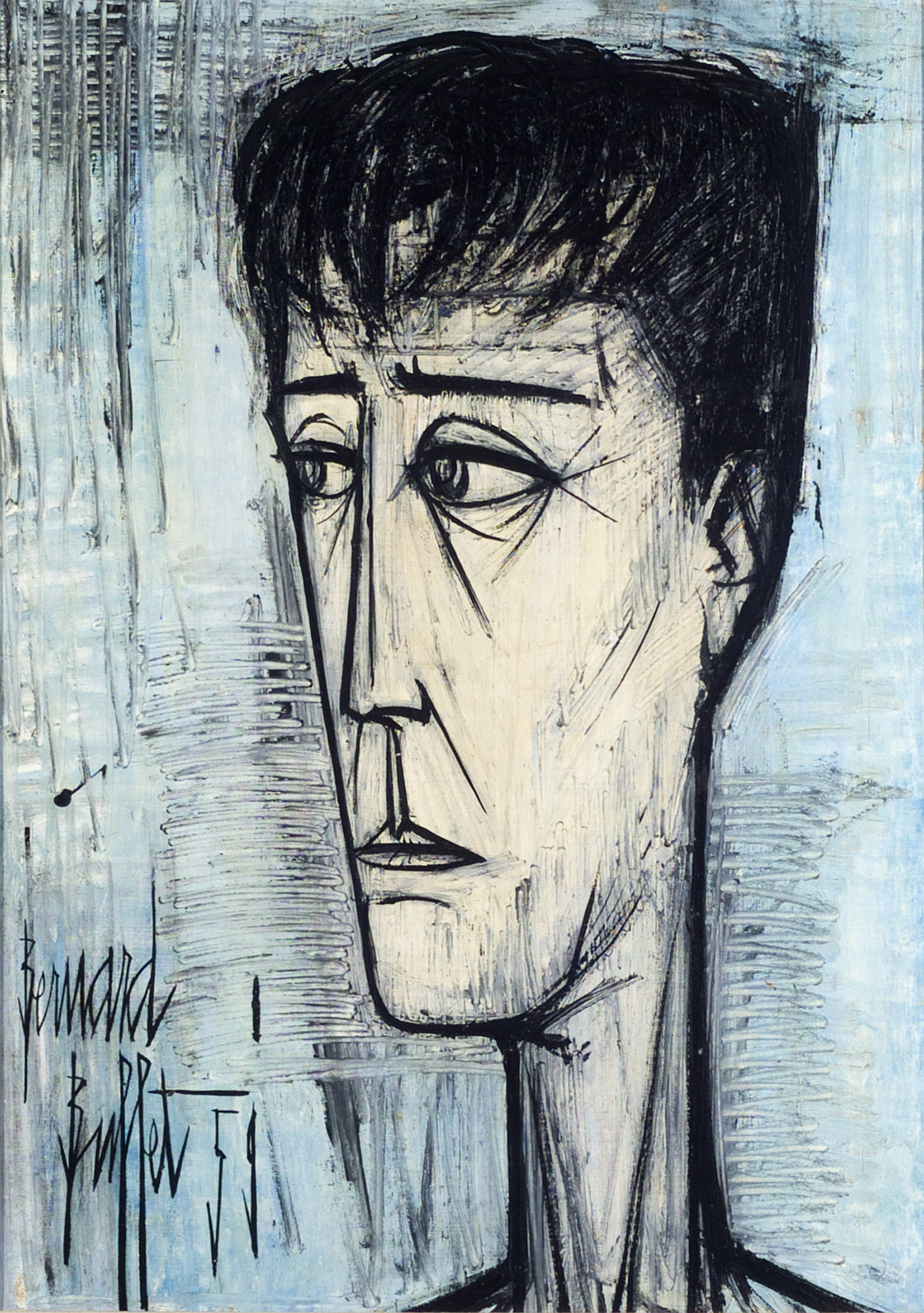 Bernard Buffet, <i>Self-Portrait</i>, 1959. Eli and Edythe Broad Art Museum, Michigan State University, Bequest of the Estate of Janet Beach Beatty.