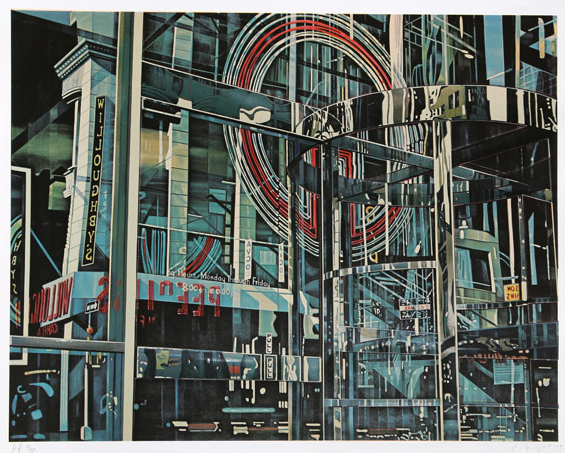 C. J. Yao, <i>Building Reflection</i>, from the portfolio <i>Cityscapes</i>, 1979. Eli and Edythe Broad Art Museum, Michigan State University, gift of Ralph Slovenko.