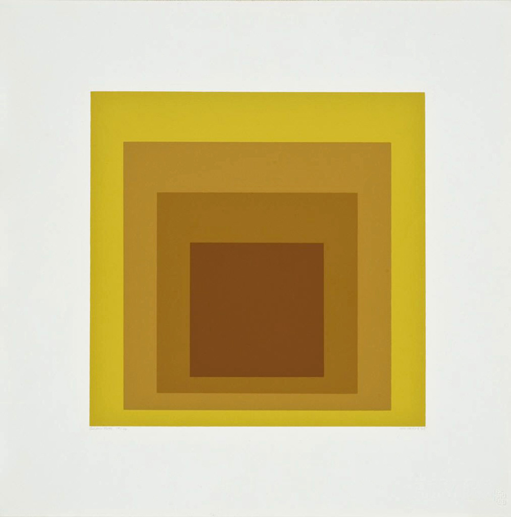 Josef Albers, <i>Golden Gate</i>, from the portfolio <i>Homage to the Square: Soft Edge–Hard Edge</i>, 1965. Eli and Edythe Broad Art Museum, Michigan State University, gift of Dr. Neil J. Farkas in memory of his father Boris Farkas.