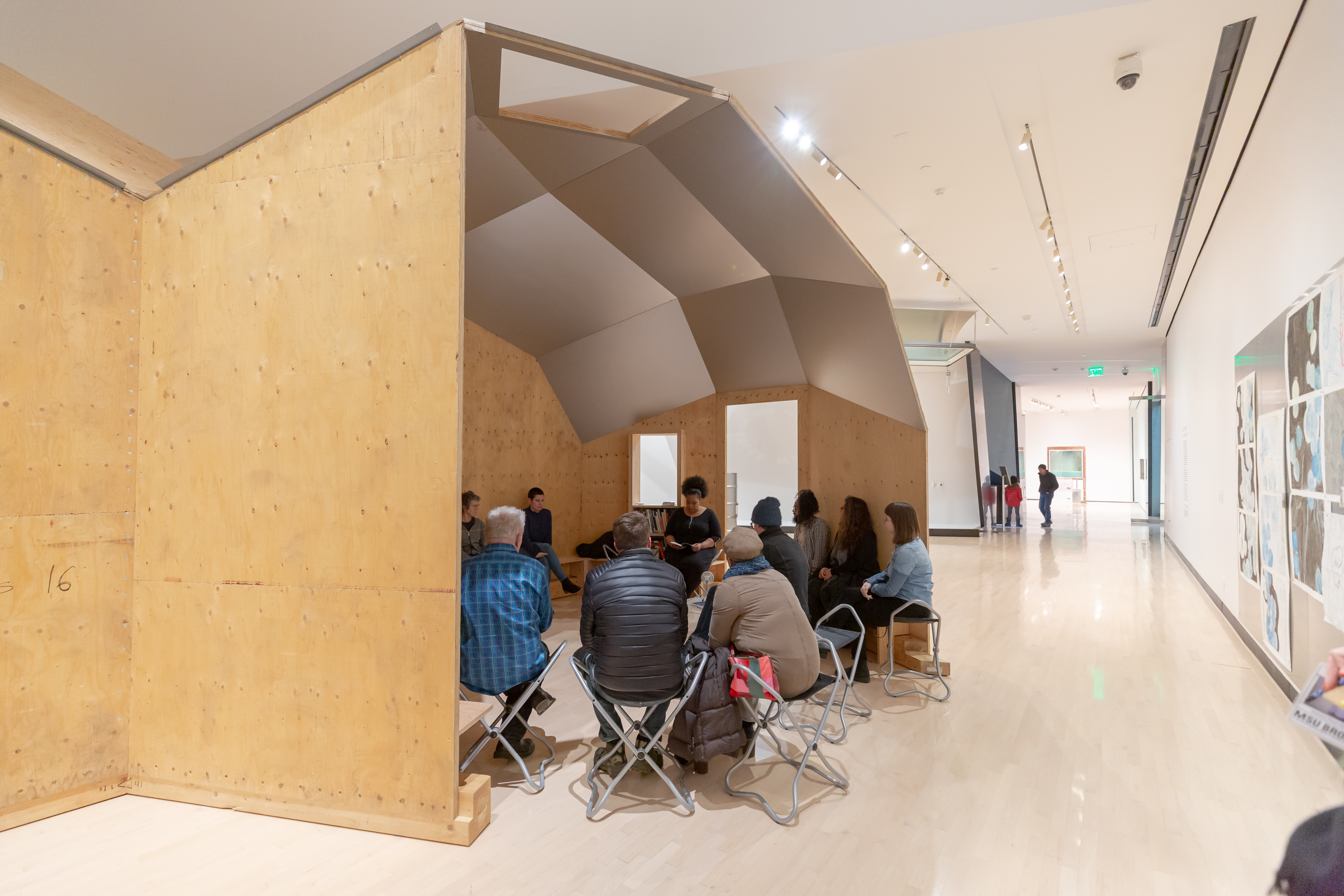 <i>Oscar Tuazon: Water School</i>, installation view at the Eli and Edythe Broad Art Museum at Michigan State University, 2019. Photo: Aaron Word/MSU Broad