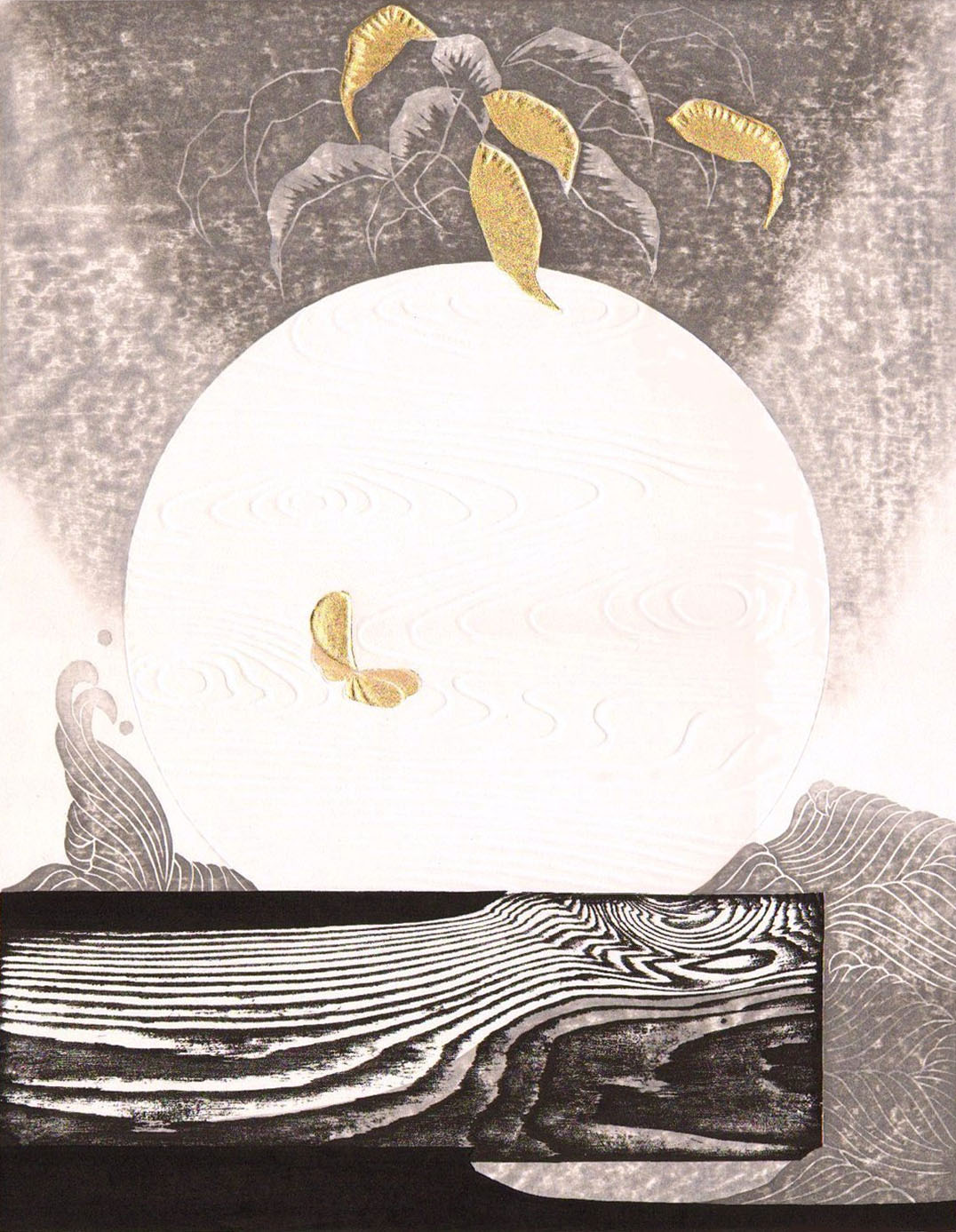 Iwami Reika, <i>Ode to the Sea (D)</i>, 1983. Eli and Edythe Broad Art Museum, Michigan State University, gift of Marilyn and Jack Worth, MSU Class of 1948.