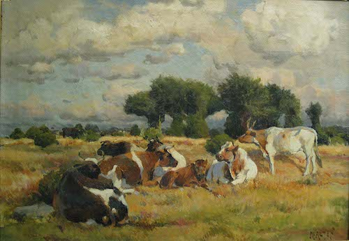 Mathias Alten, <i>Michigan Pasture with Cows</i>, 1914. Eli and Edythe Broad Art Museum, Michigan State University, Gift of the Alten and Gilleo Families.