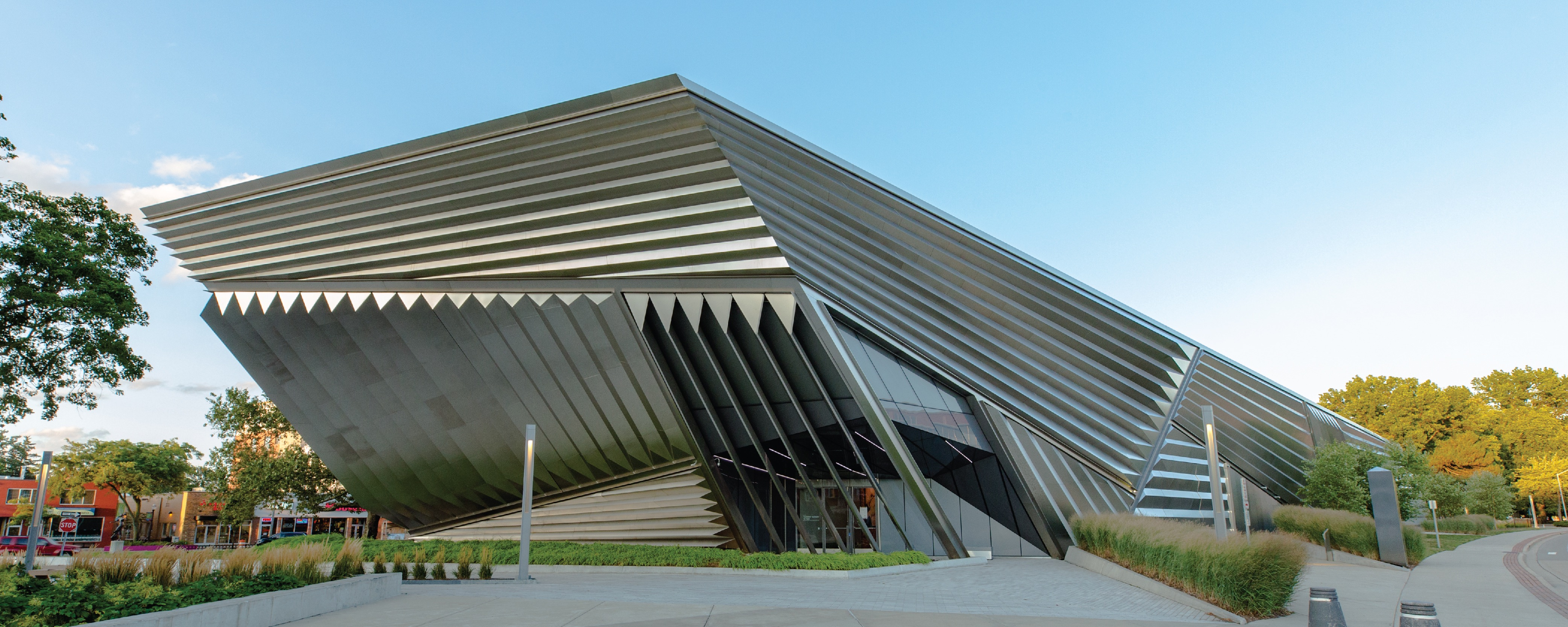 Exterior of the Broad Art Museum building architecture
