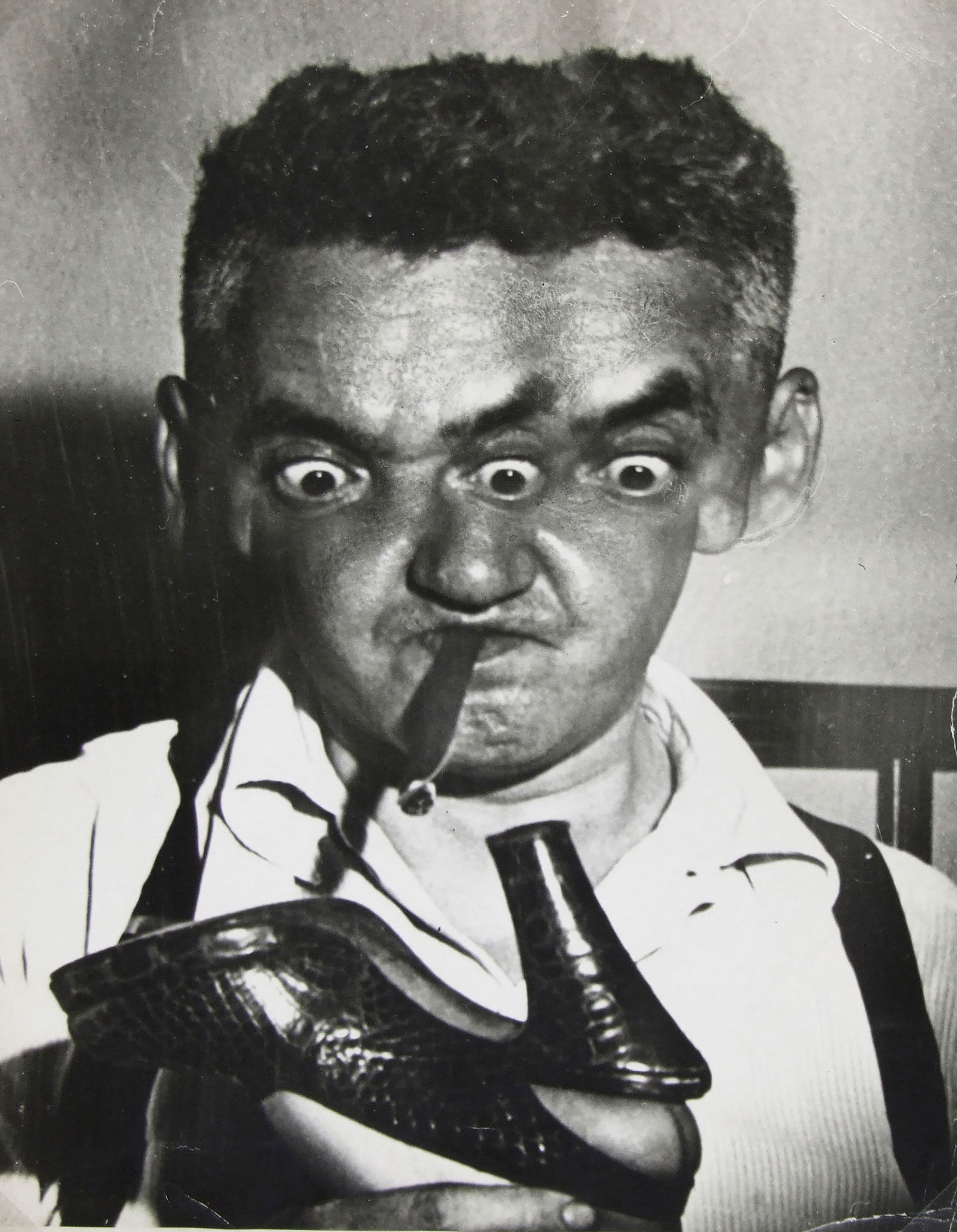 Weegee, <i>Self-Portrait (Talent Scout)</i>, ca. 1951. Eli and Edythe Broad Art Museum, Michigan State University, purchase, funded by the Kathleen D. and Milton E. Muelder Endowment.