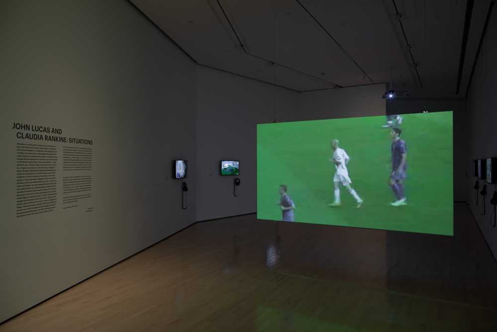 <i>John Lucas and Claudia Rankine: Situations</i> installation view at the Eli and Edythe Broad Art Museum at Michigan State University, 2020. Photo: Eat Pomegranate Photography.