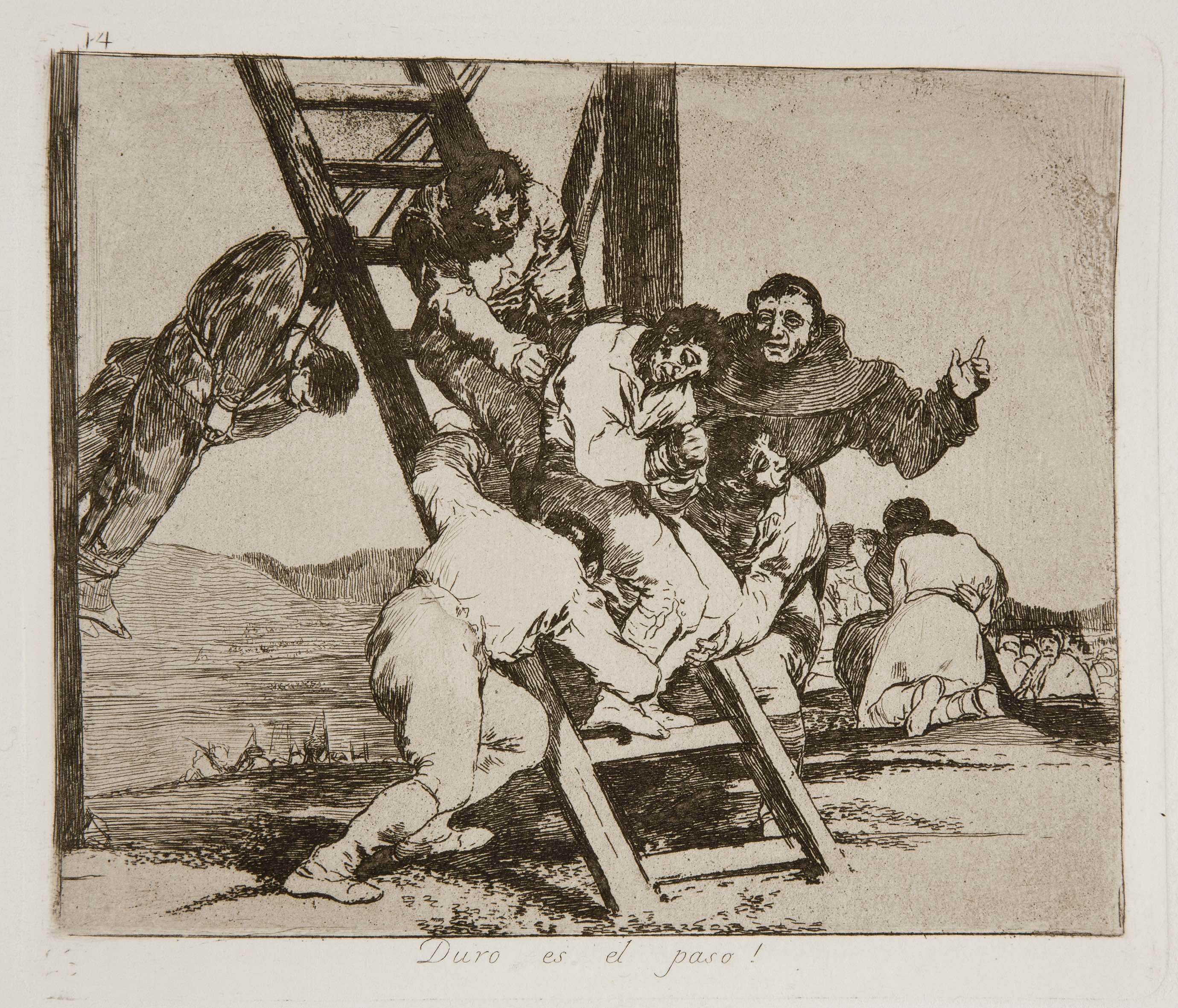 Francisco de Goya, ¡Duro es el paso! (The way is hard!)