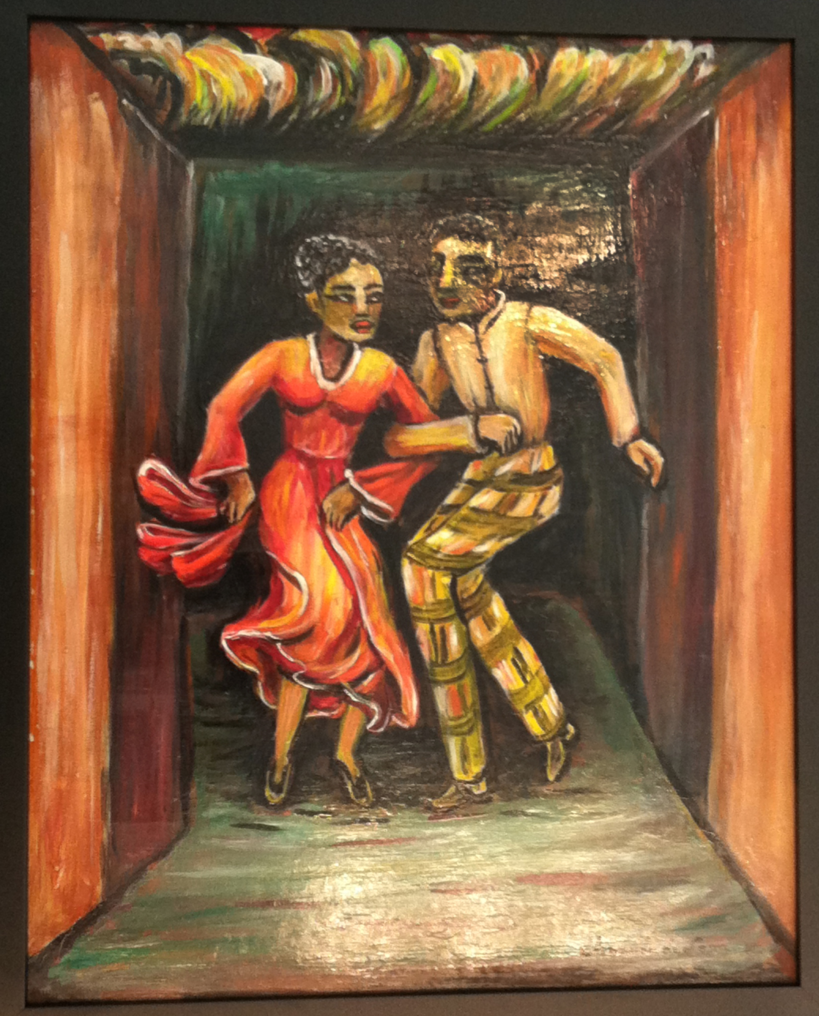 Amanda de León, <i>Dancing in Harlem</i>, 1940s. Eli and Edythe Broad Art Museum, Michigan State University, gift of Mr. and Mrs. E. K. Perry.