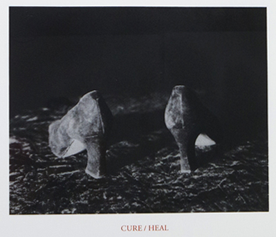 "Lorna Simpson, <i>Cure/Heal</i>, from the portfolio <i>""10: Artist as Catalyst""</i>, 1992. MSU purchase, funded by the Office of the Vice President for Research and Graduate Studies."