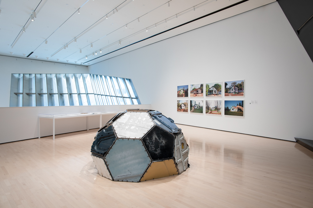 <i>InterStates of Mind: Rewriting the Map of the United States in the Age of the Automobile</i> installation view at the Eli and Edythe Broad Art Museum at Michigan State University, 2020. Photo: Eat Pomegranate Photography.