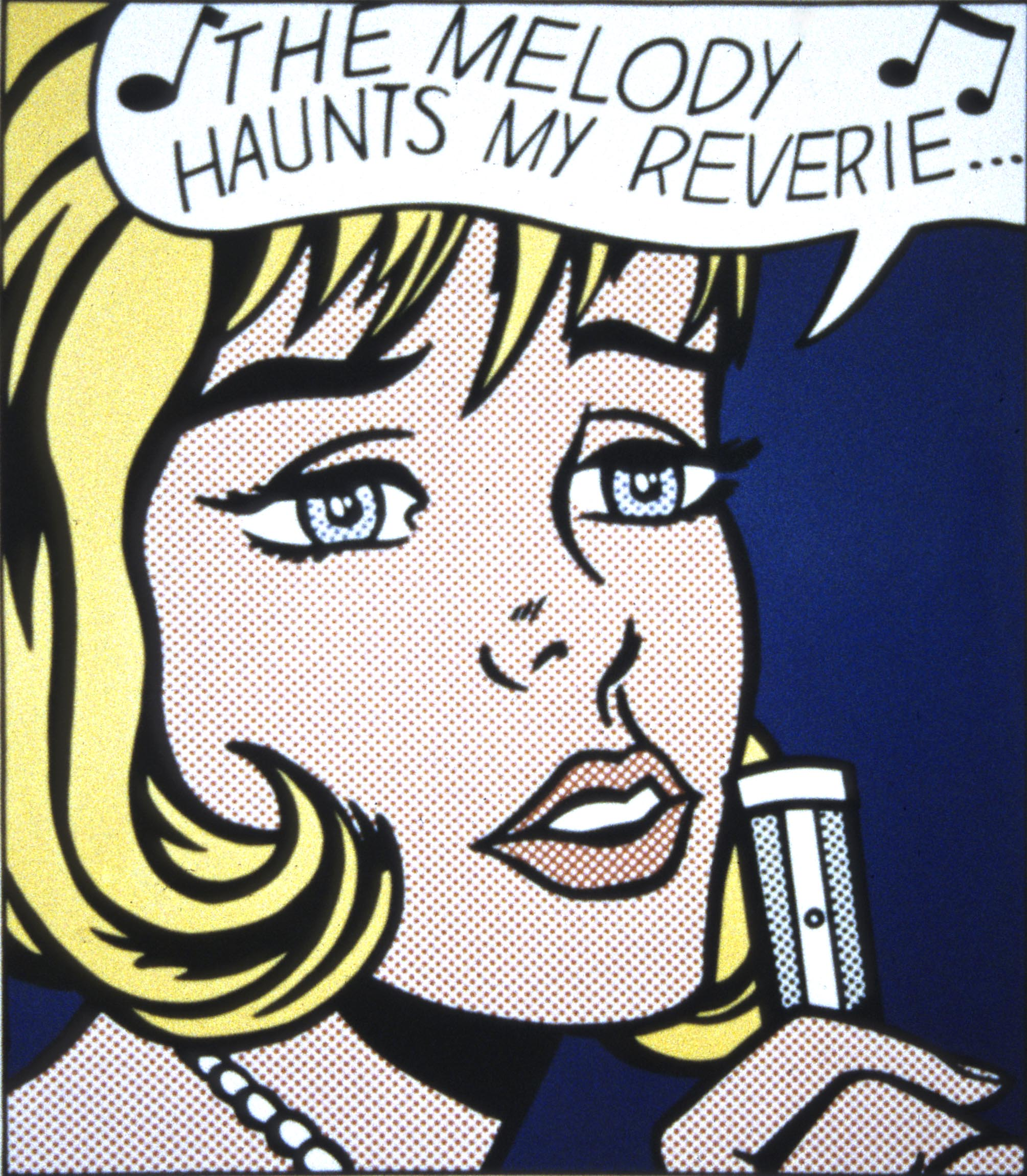 "Roy Lichtenstein, <i>The Melody Haunts My Reverie</i>, from the portfolio <i>""11 Pop Artists, Volume II""</i>, 1965. Gift of Avis Butler in memory of Alexander Butler."