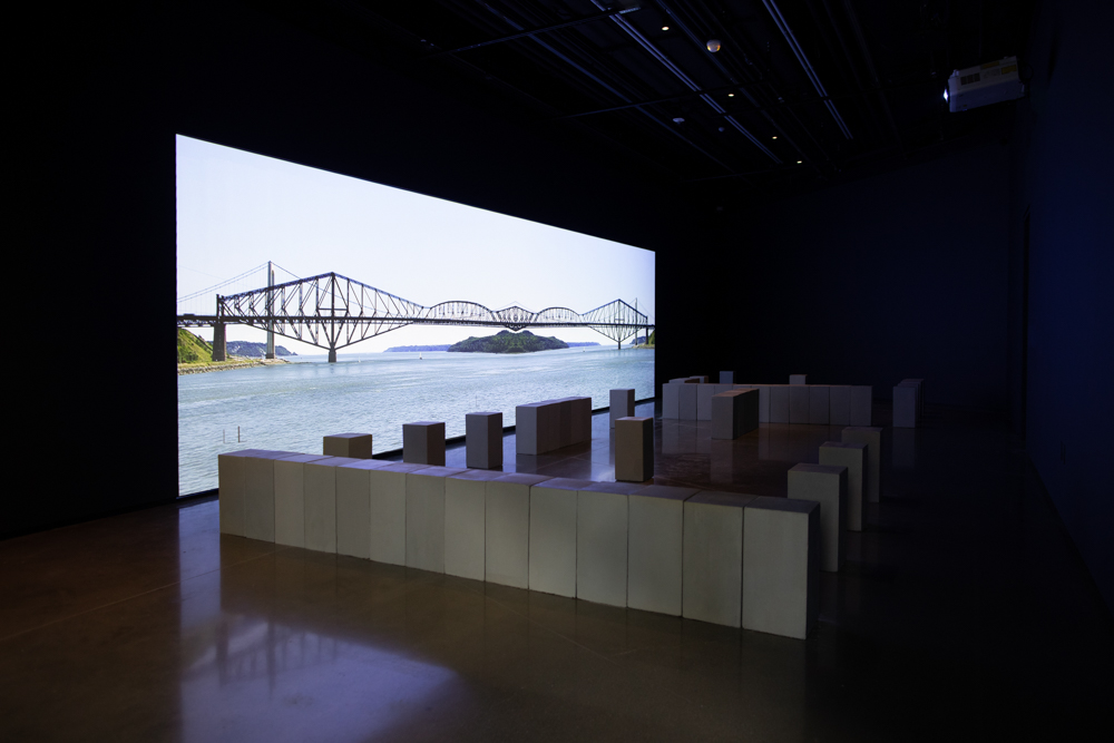 <i>Caroline Monnet: Bridging Distance</i> installation view at the Eli and Edythe Broad Art Museum at Michigan State University, 2021. Photo: Eat Pomegranate Photography.