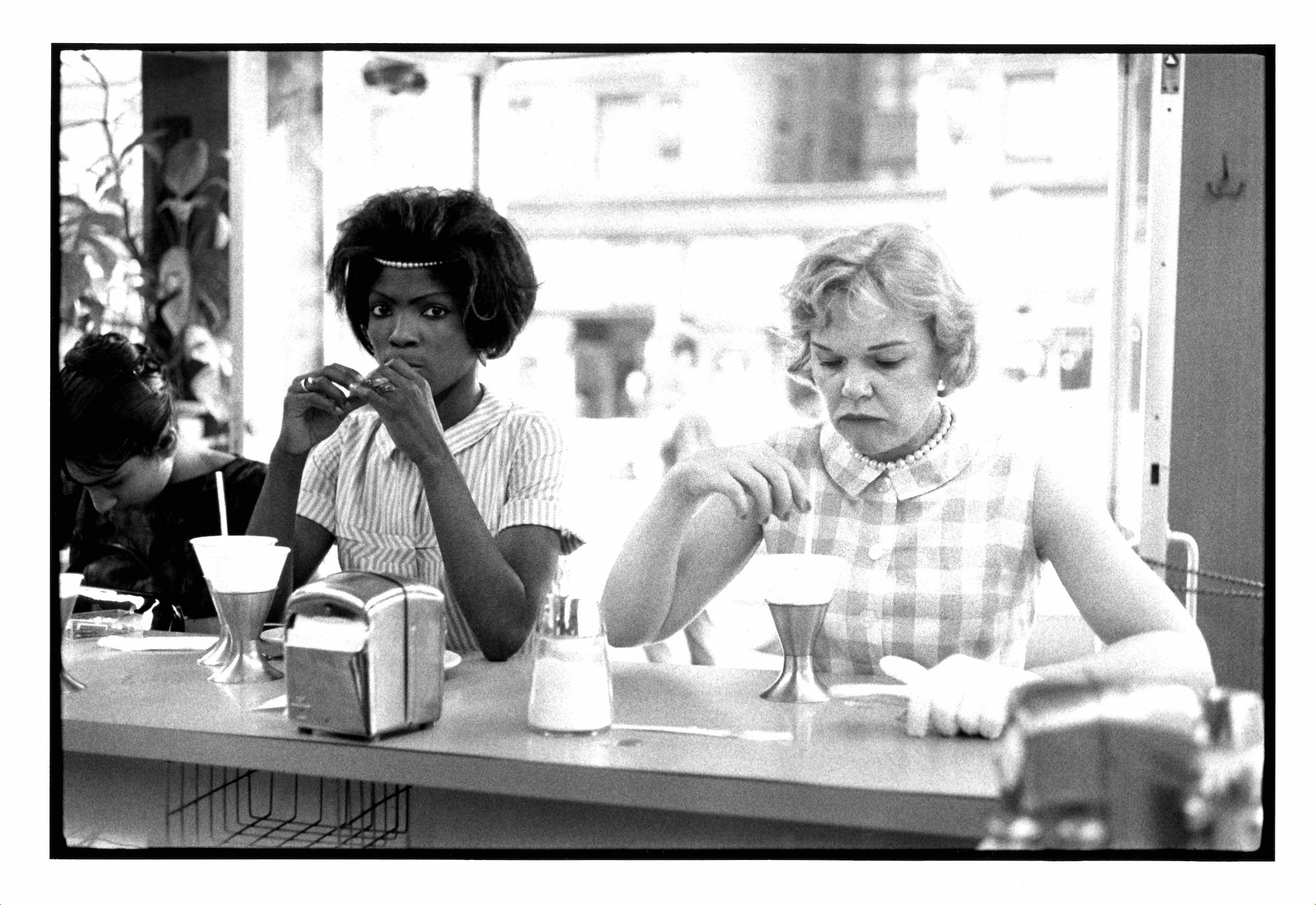"Bruce Davidson, <i>Two Women at Lunch Counter</i>, from the series <i>""Time of Change: Civil Rights Photographs 1961-65""</i>, 1962, printed later. MSU purchase, funded by the Kathleen D. and Milton E. Muelder Endowment."
