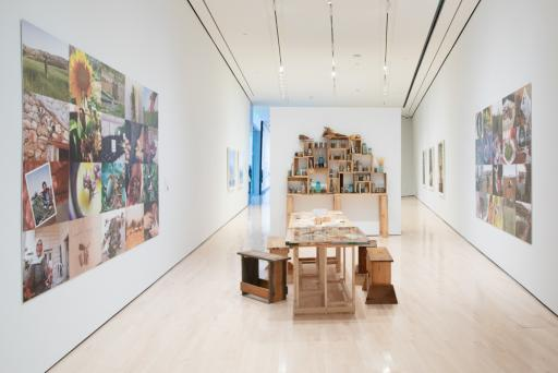 <i>Seeds of Resistance</i> installation view at the Eli and Edythe Broad Art Museum at Michigan State University, 2021. Photo: Eat Pomegranate Photography.