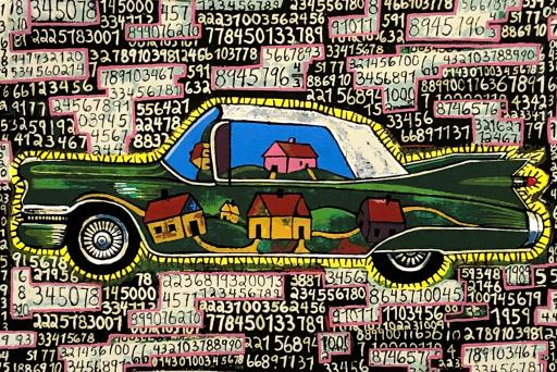 Luiz Cruz Azaceta, <i>Lotto: The American Dream</i>, from the portfolio <i>10: Artist as Catalyst</i>, 1992. Eli and Edythe Broad Art Museum, Michigan State University, purchase, funded by the Office of the Vice President for Research and Graduate Studies